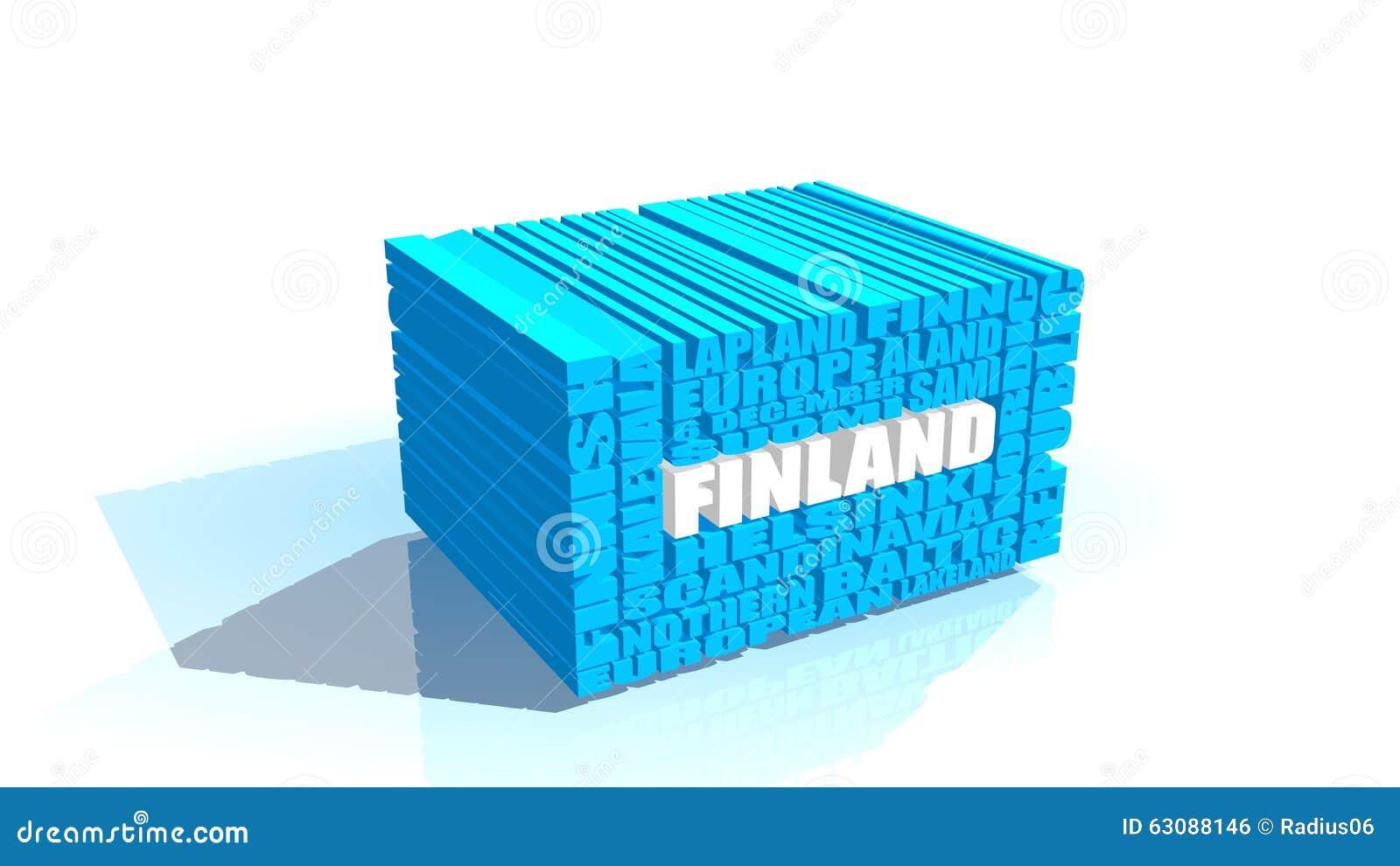 Download La Finlande étiquette Le Nuage Illustration Stock - Illustration du finn, indépendance: 63088146