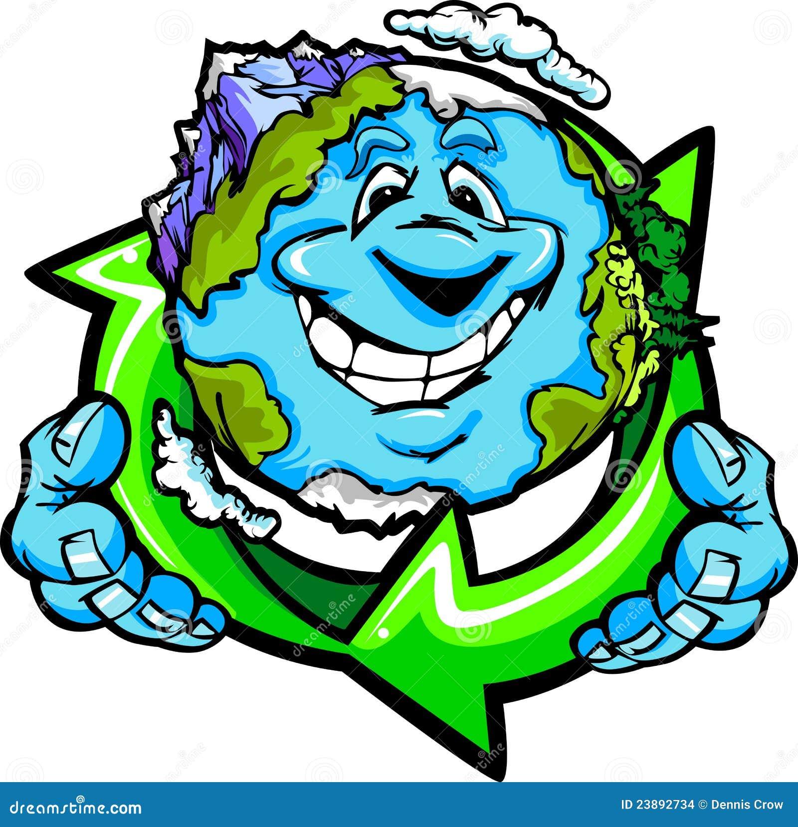 La fixation heureuse de la terre de planète réutilisent le symbole