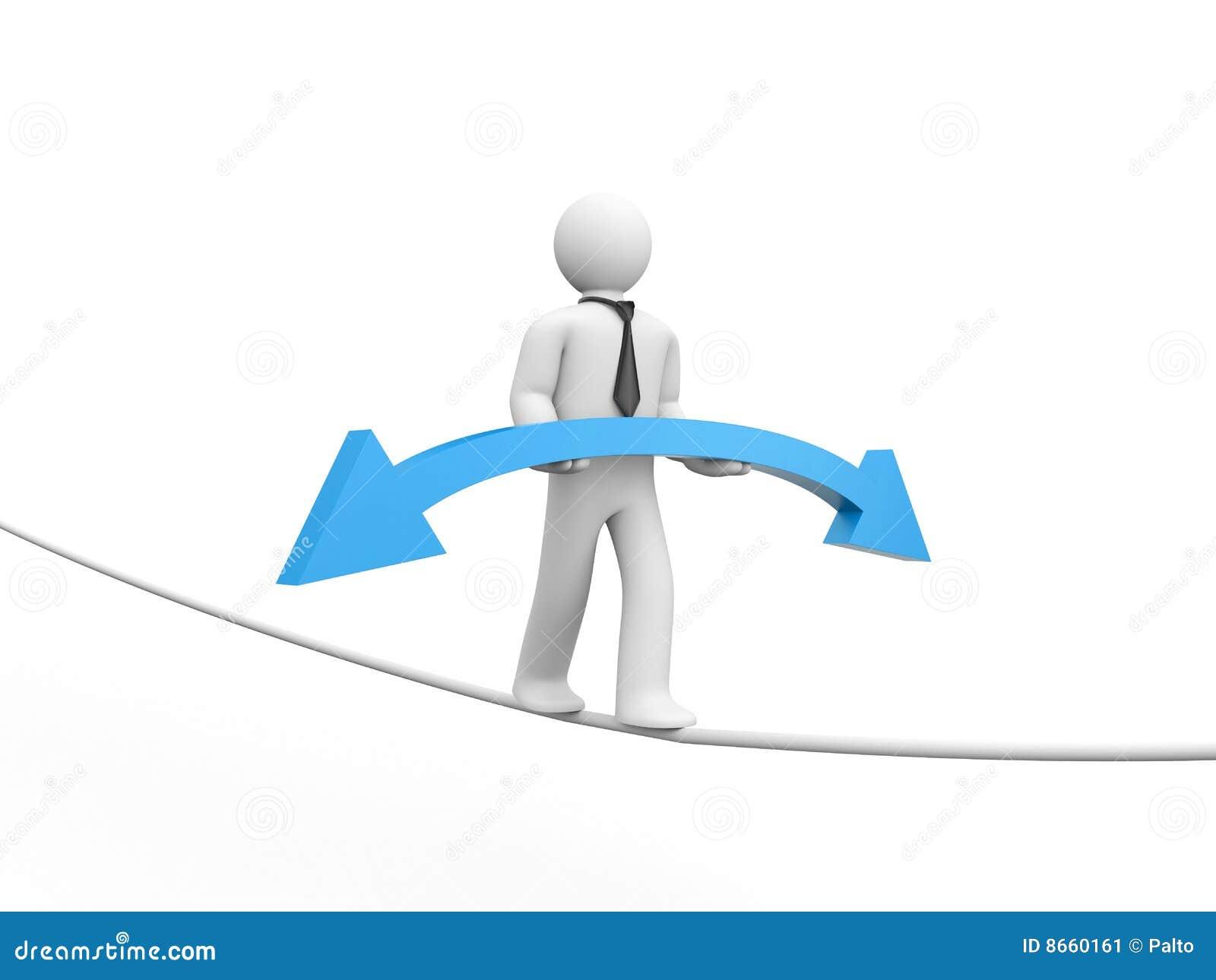 La flèche amène la personne vers le haut