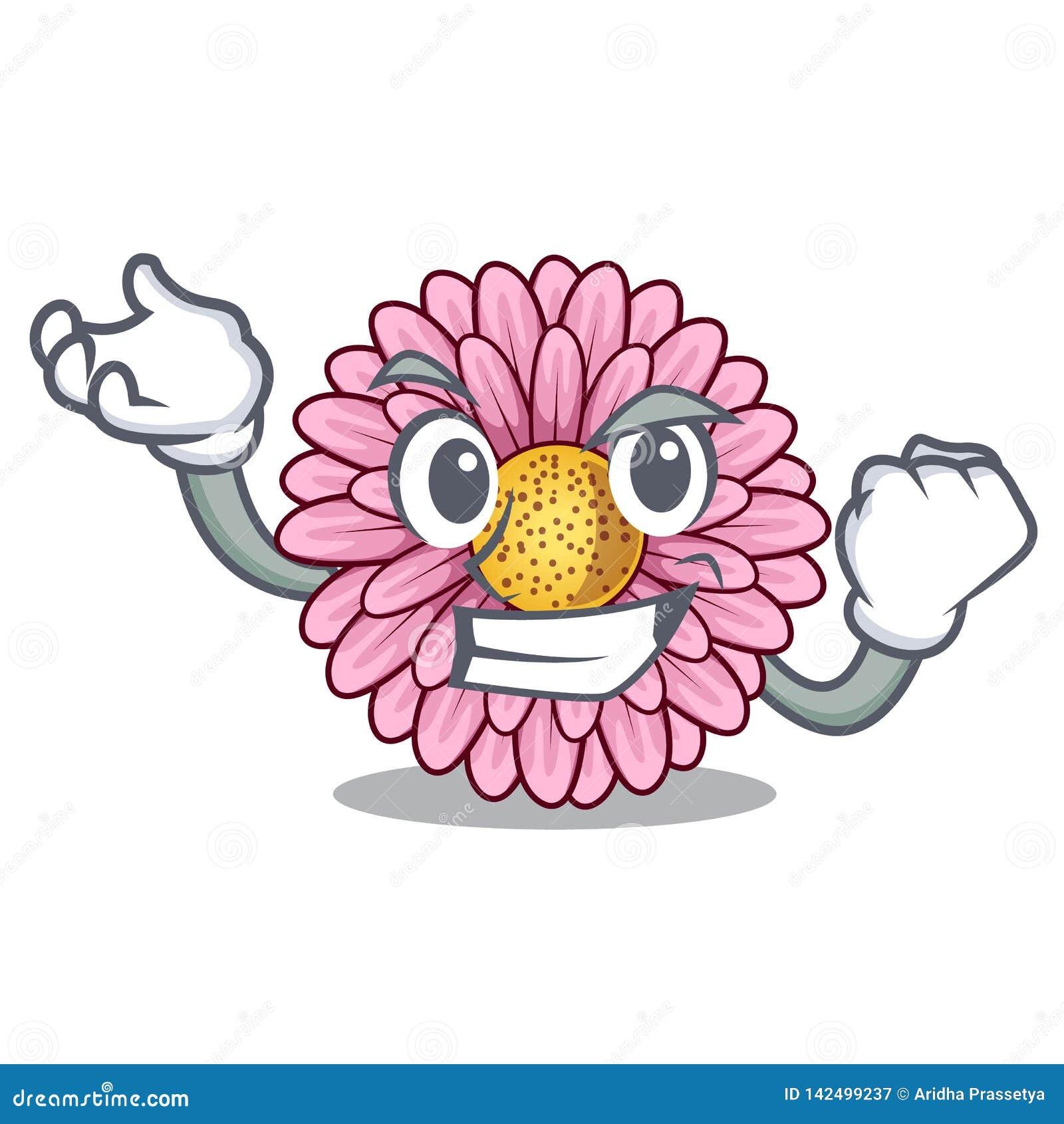La fleur réussie de gerbera colle la tige de mascotte