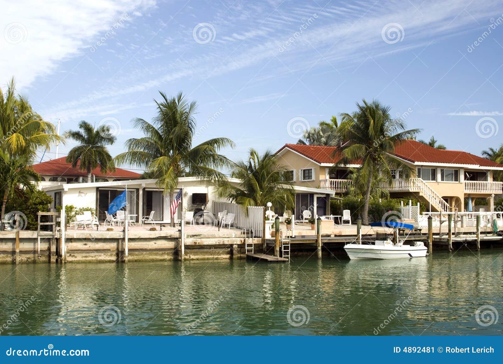 La Floride Introduit La Sc Ne De Canal Image Stock Image