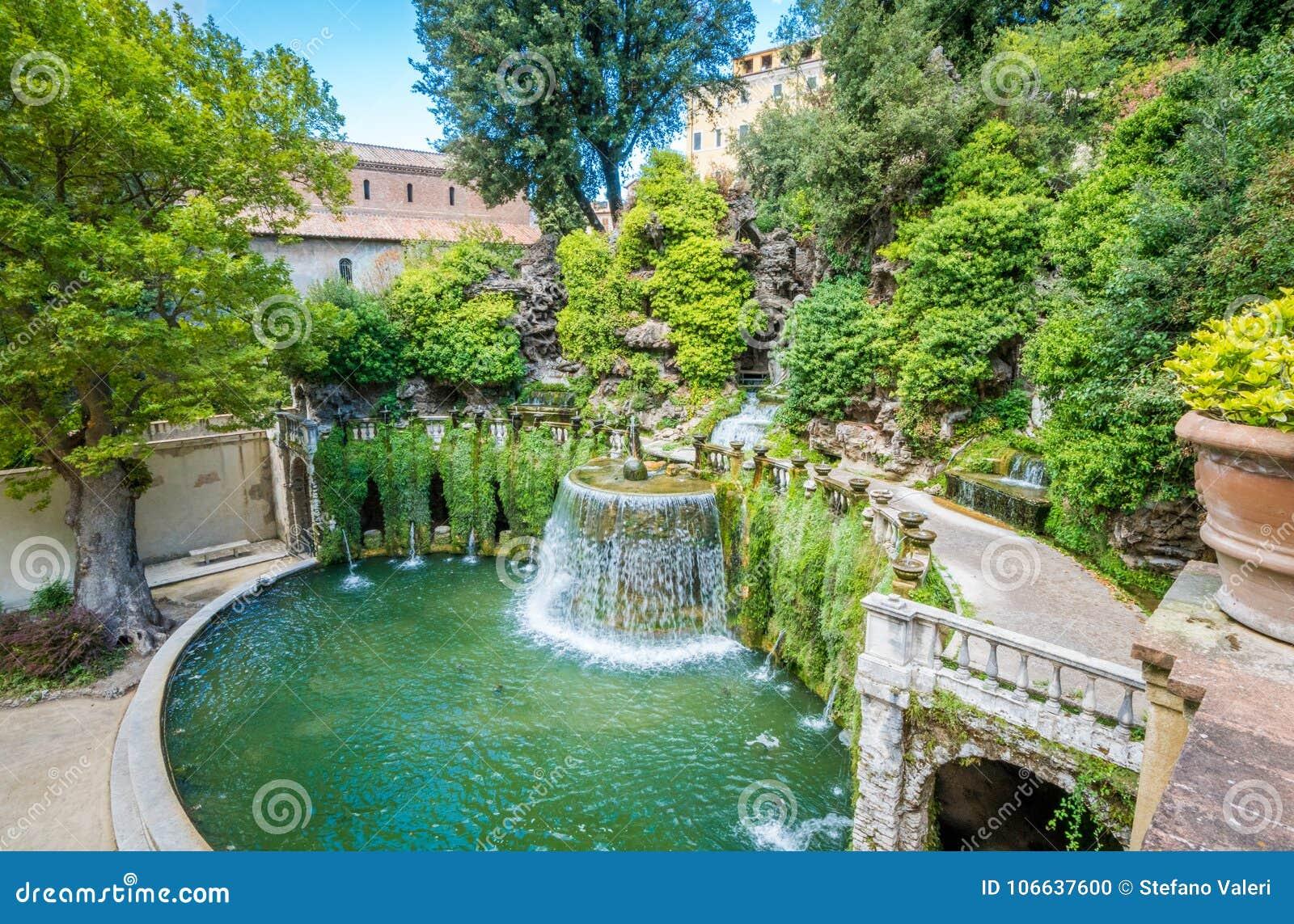 La Fontana Ovale Nel Este Tivoli Provincia Della Villa D