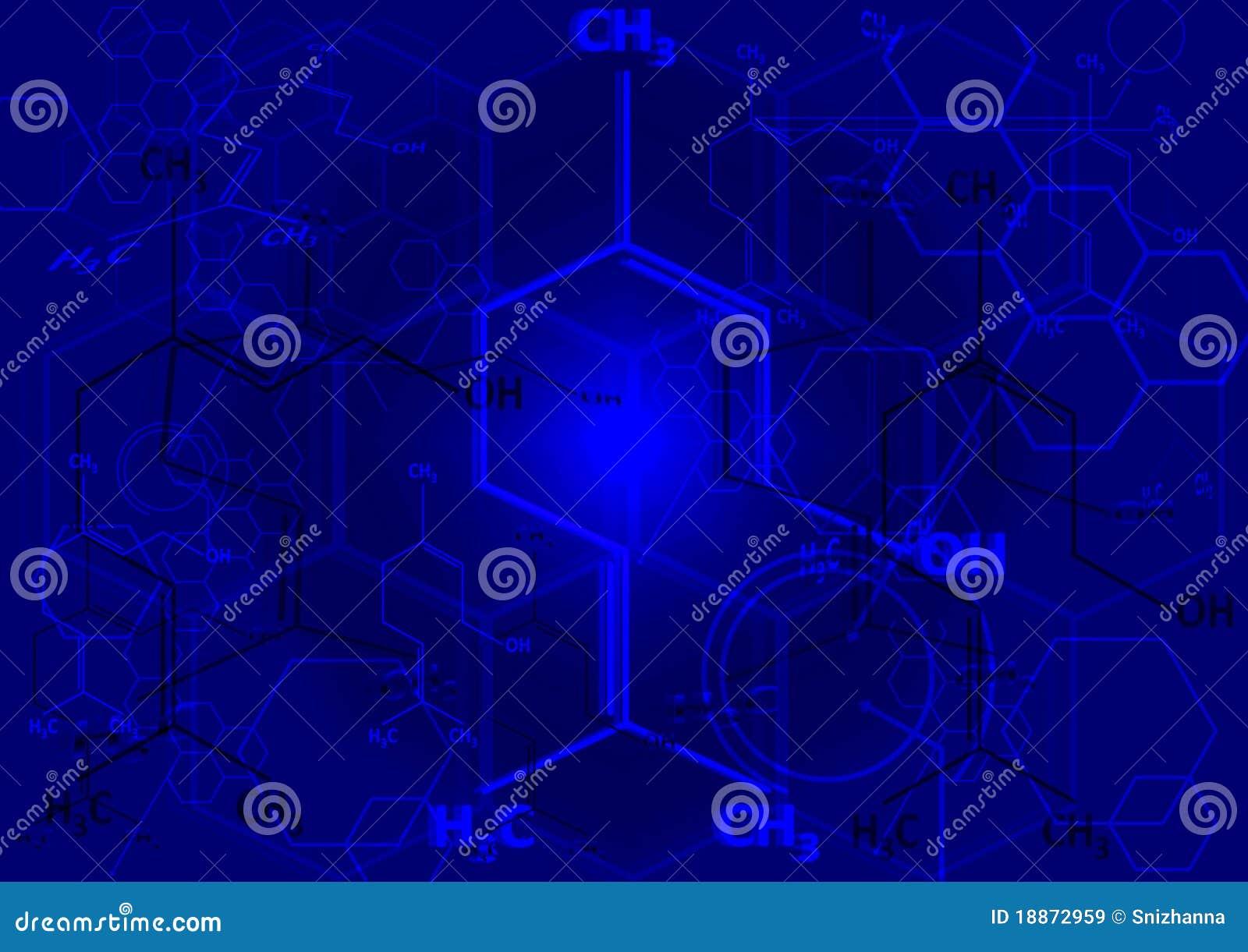 La formula strutturale chimica dello spirito illustrazione for Sfondi chimica