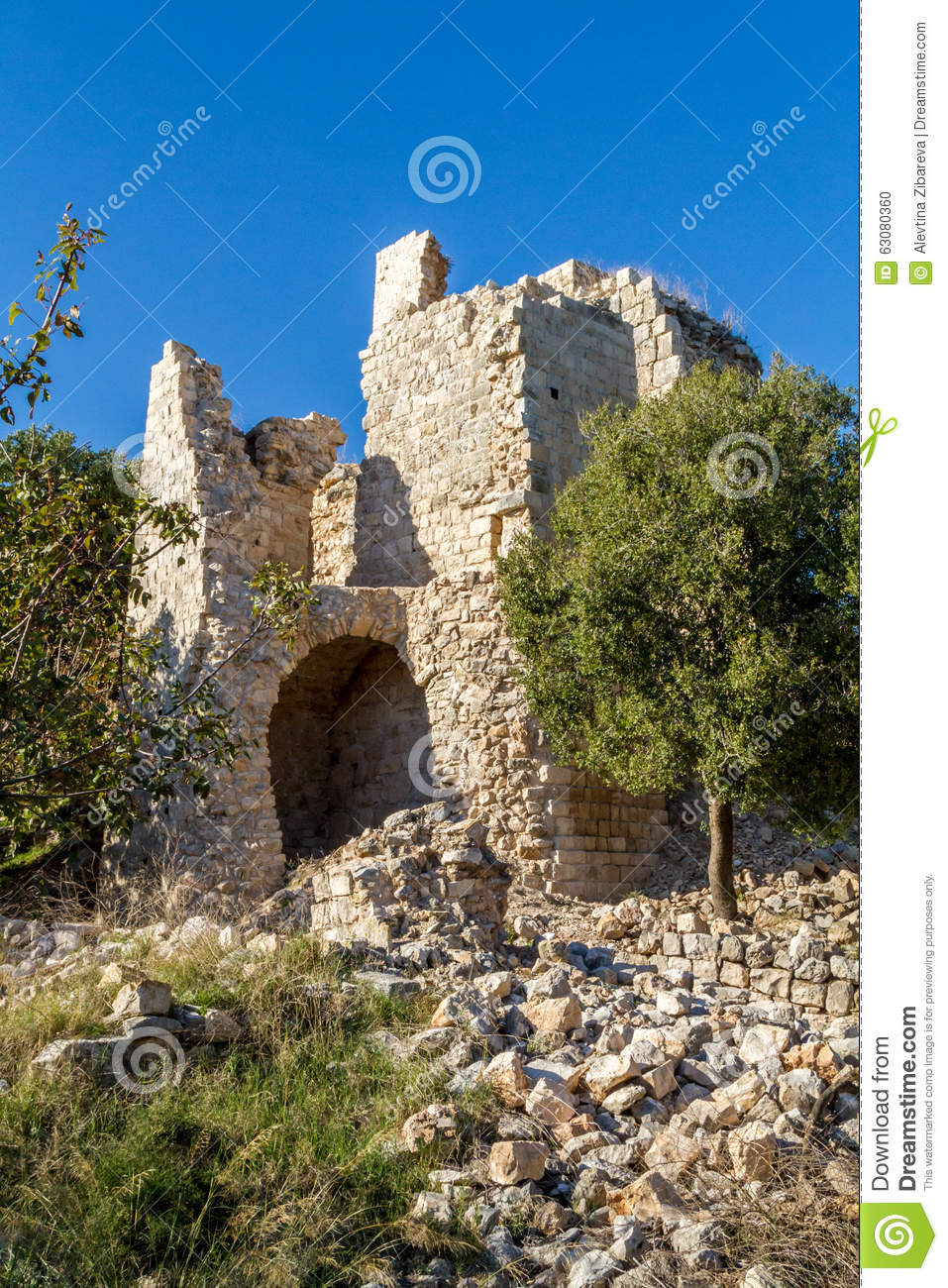Download La Forteresse De Yehiam, Israël Photo stock - Image du brique, forteresse: 63080360