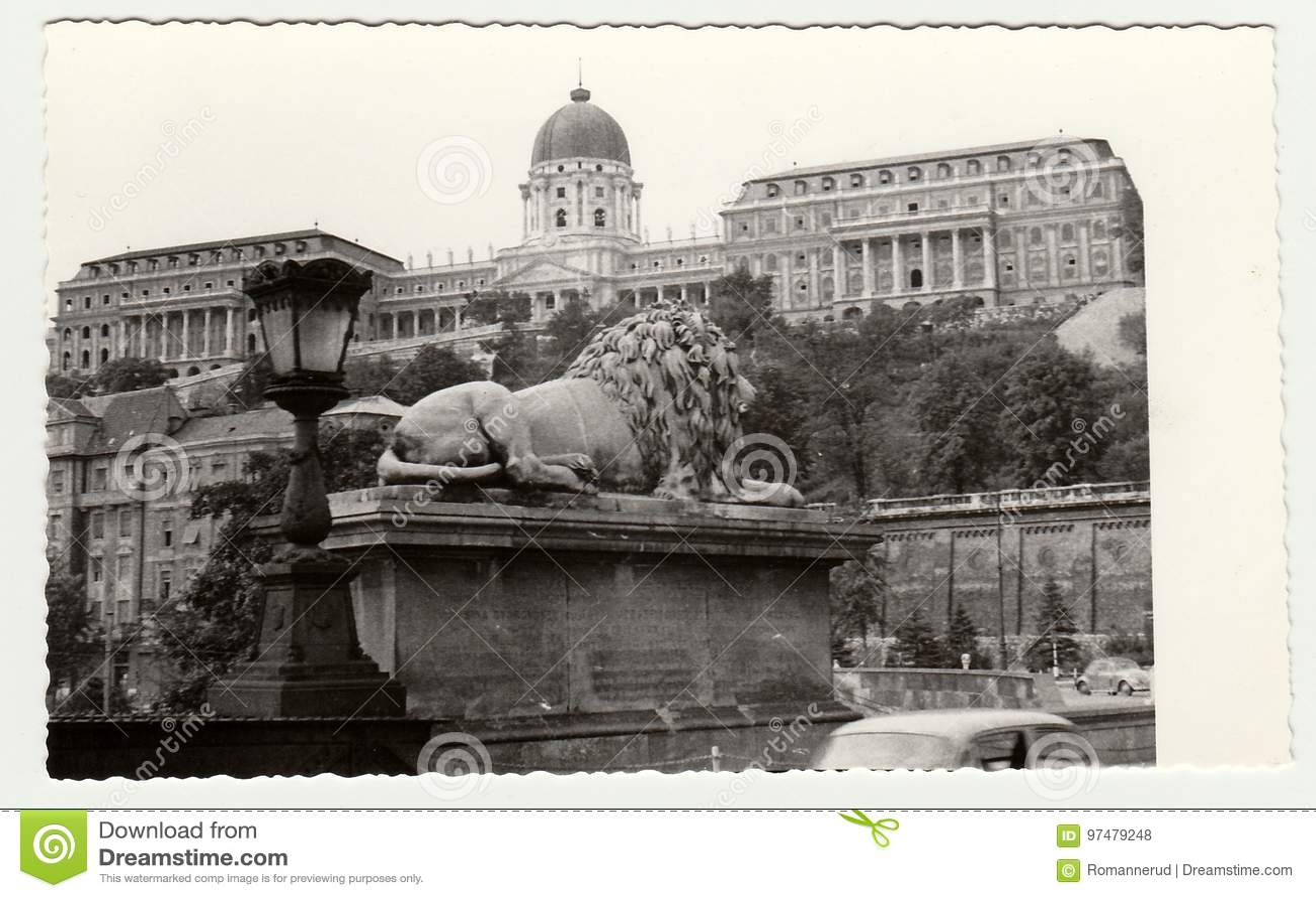 La foto d annata mostra Royal Palace di Budapest Buda Castle in Ungheria