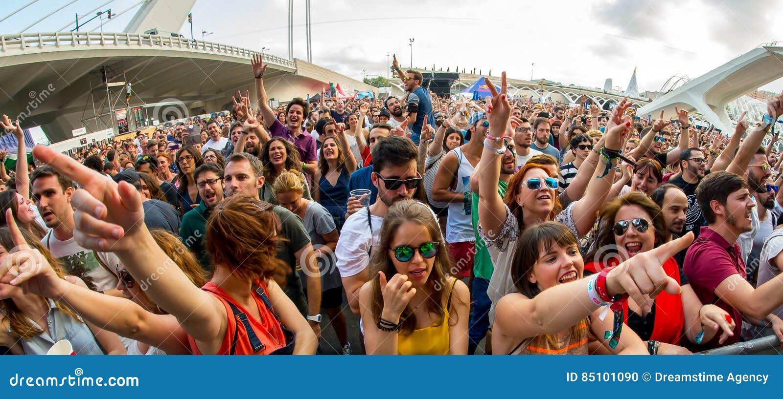 La foule au festival de les Arts