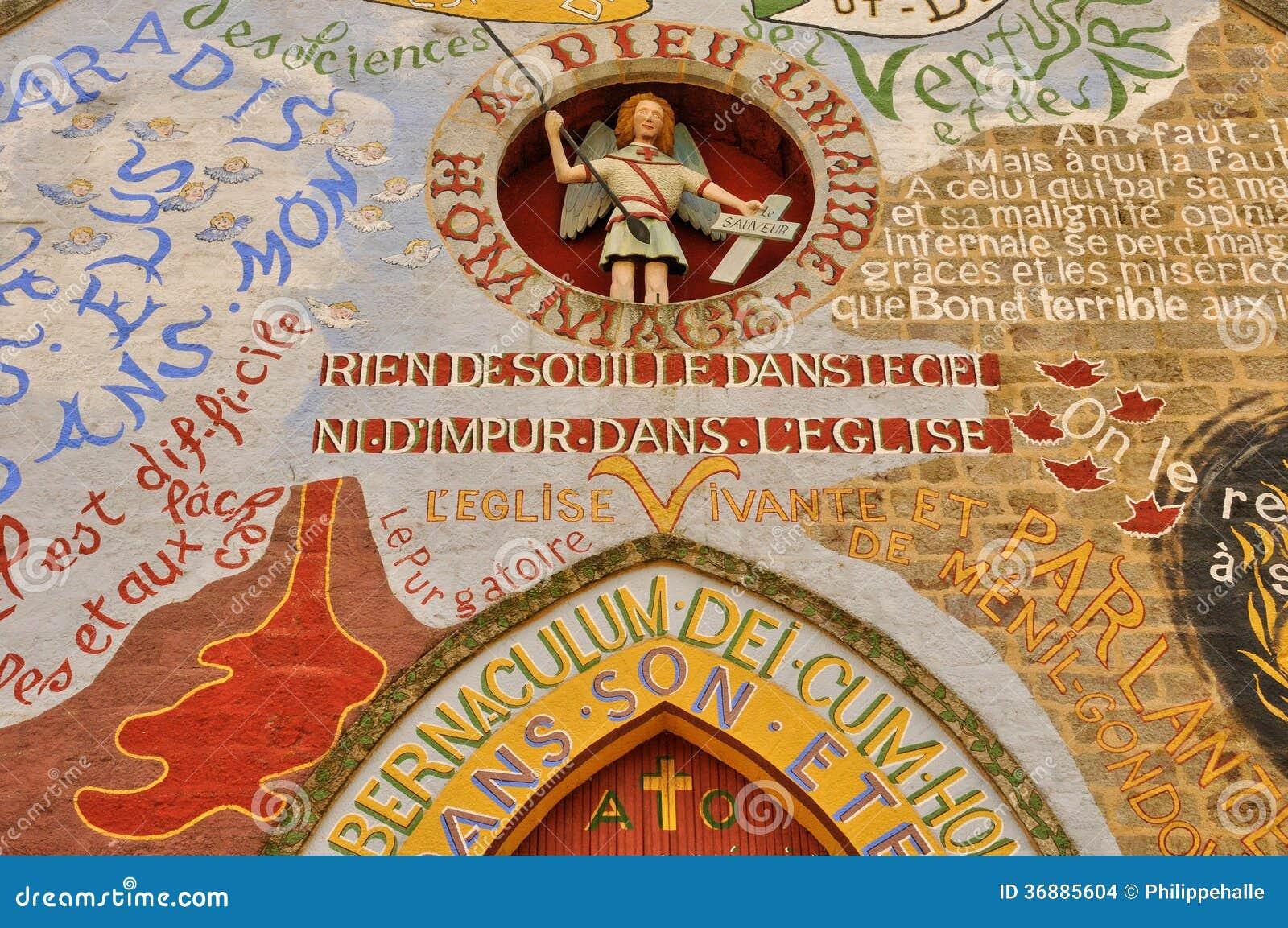 Download La Francia, Chiesa Pittoresca Di Menil Gondouin Fotografia Stock - Immagine di france, architettura: 36885604