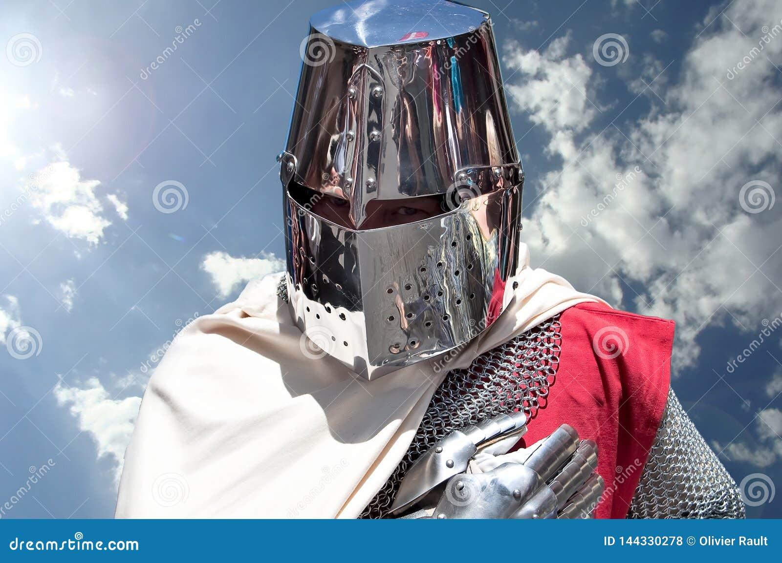 La Francia, festival medievale di Templar di Bayeux