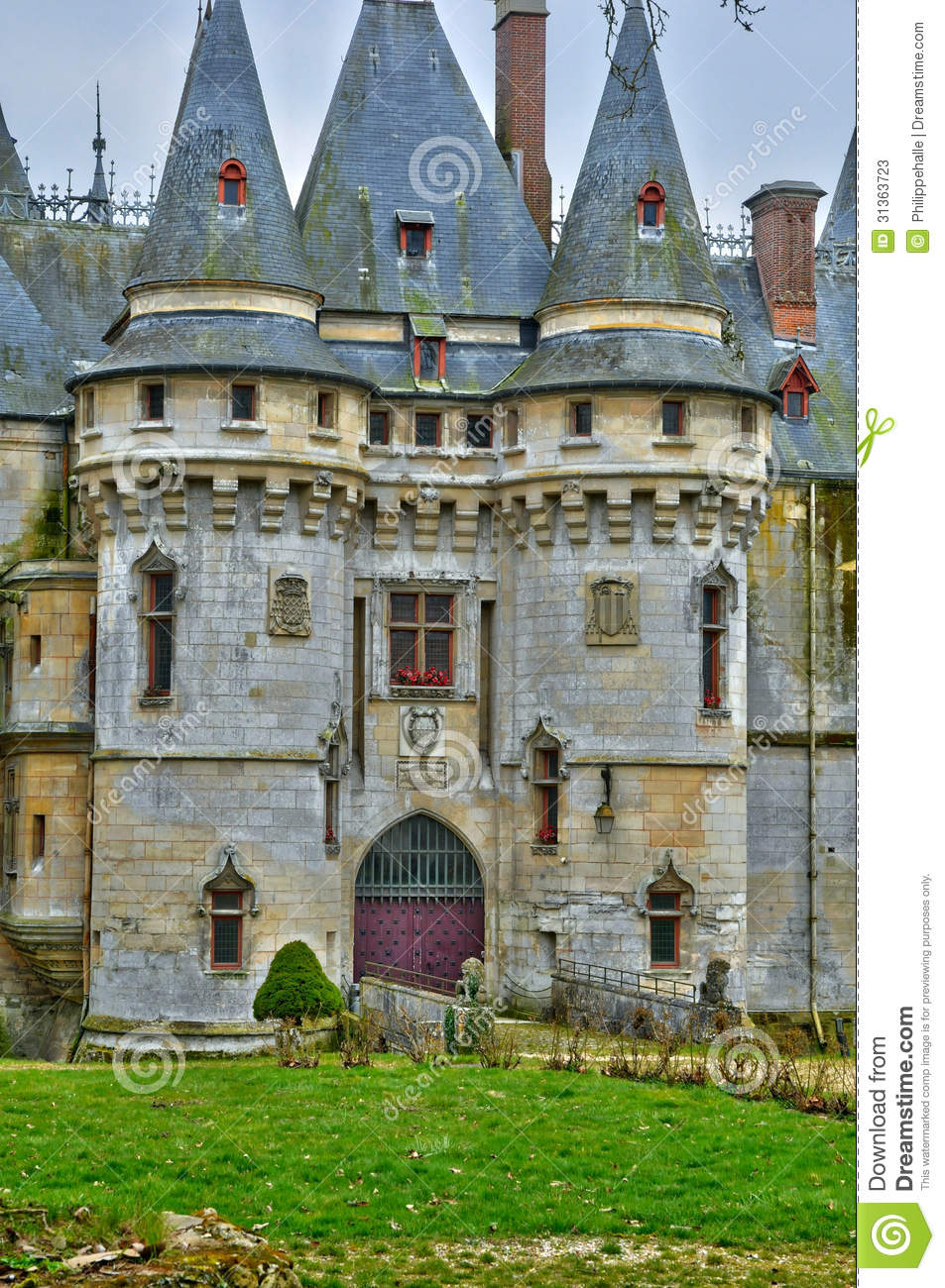 la francia il castello di vigny in val d oise immagine stock immagine di monumento storico. Black Bedroom Furniture Sets. Home Design Ideas