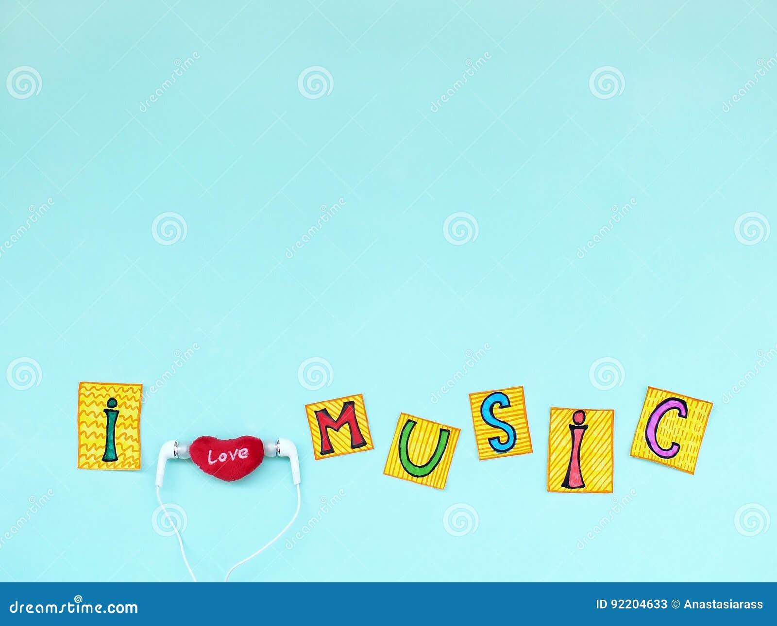 La Frase De La Música Del Amor Del I En Letras Cortadas Con Los