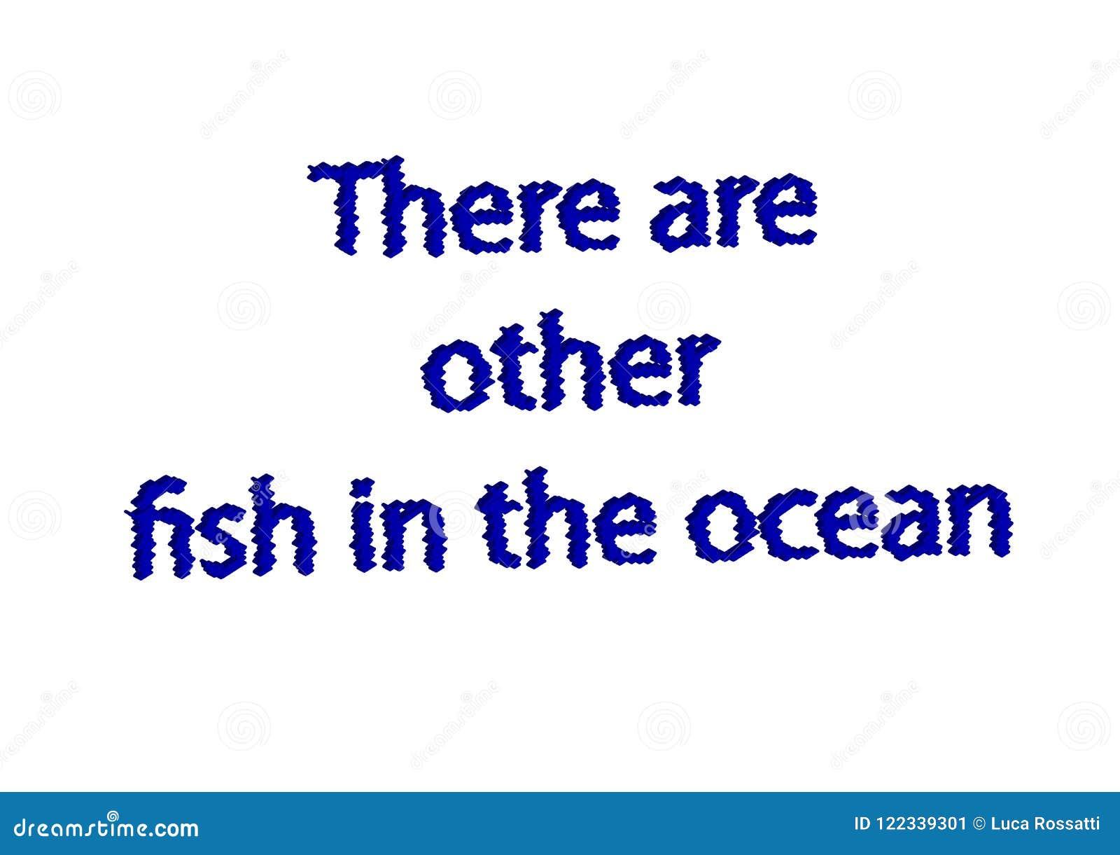 La Frase Hecha Del Ejemplo Escribe Allí Es El Otro Pescado