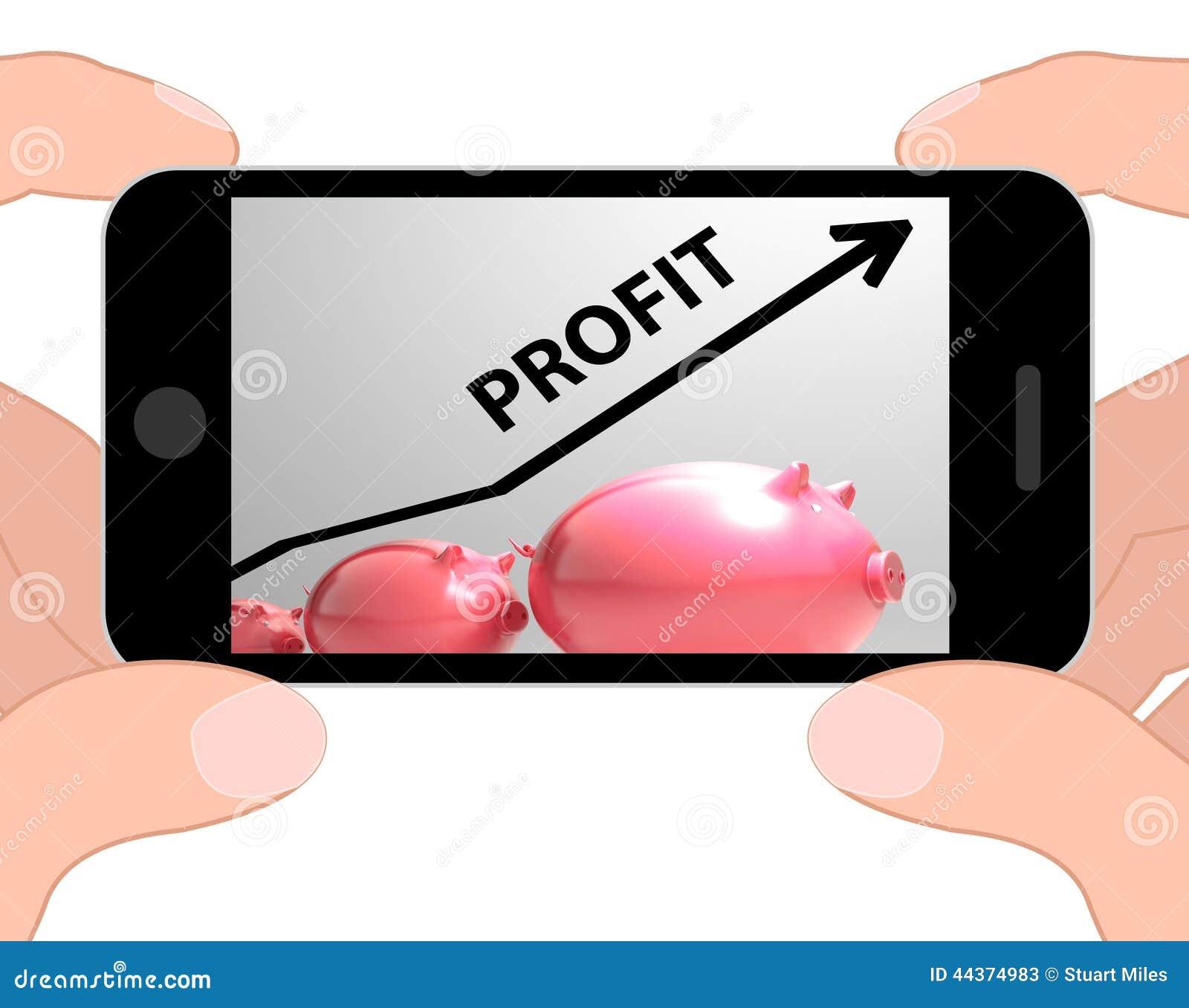 La freccia di profitto visualizza le vendite e la proiezione di guadagni