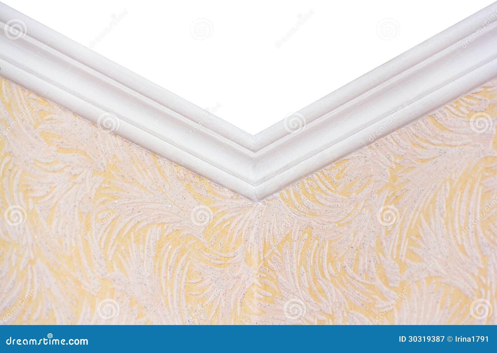 La frise de pl tre au plafond photographie stock libre de for Platre plafond salle de bain
