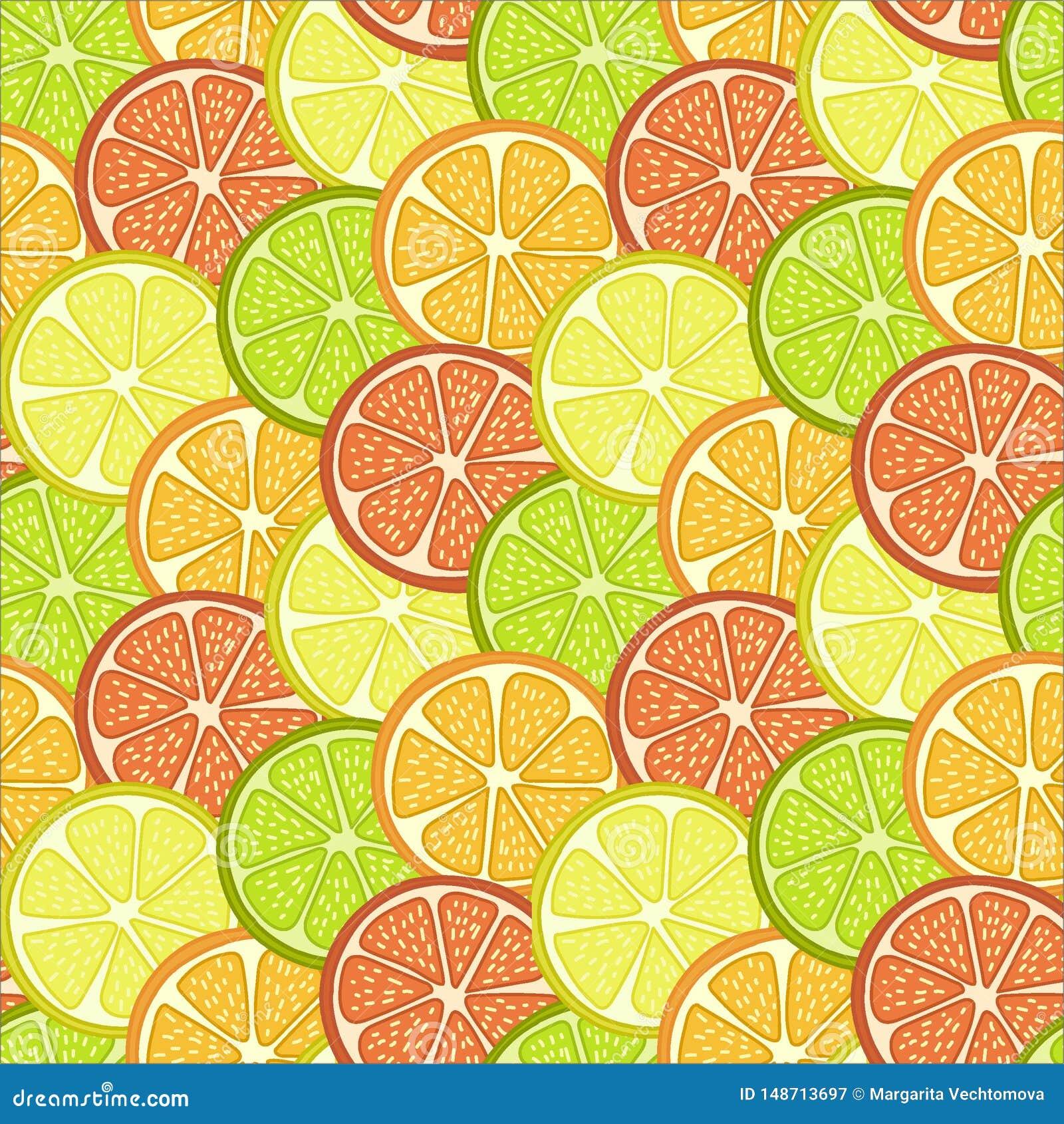 La fruta corta el fondo
