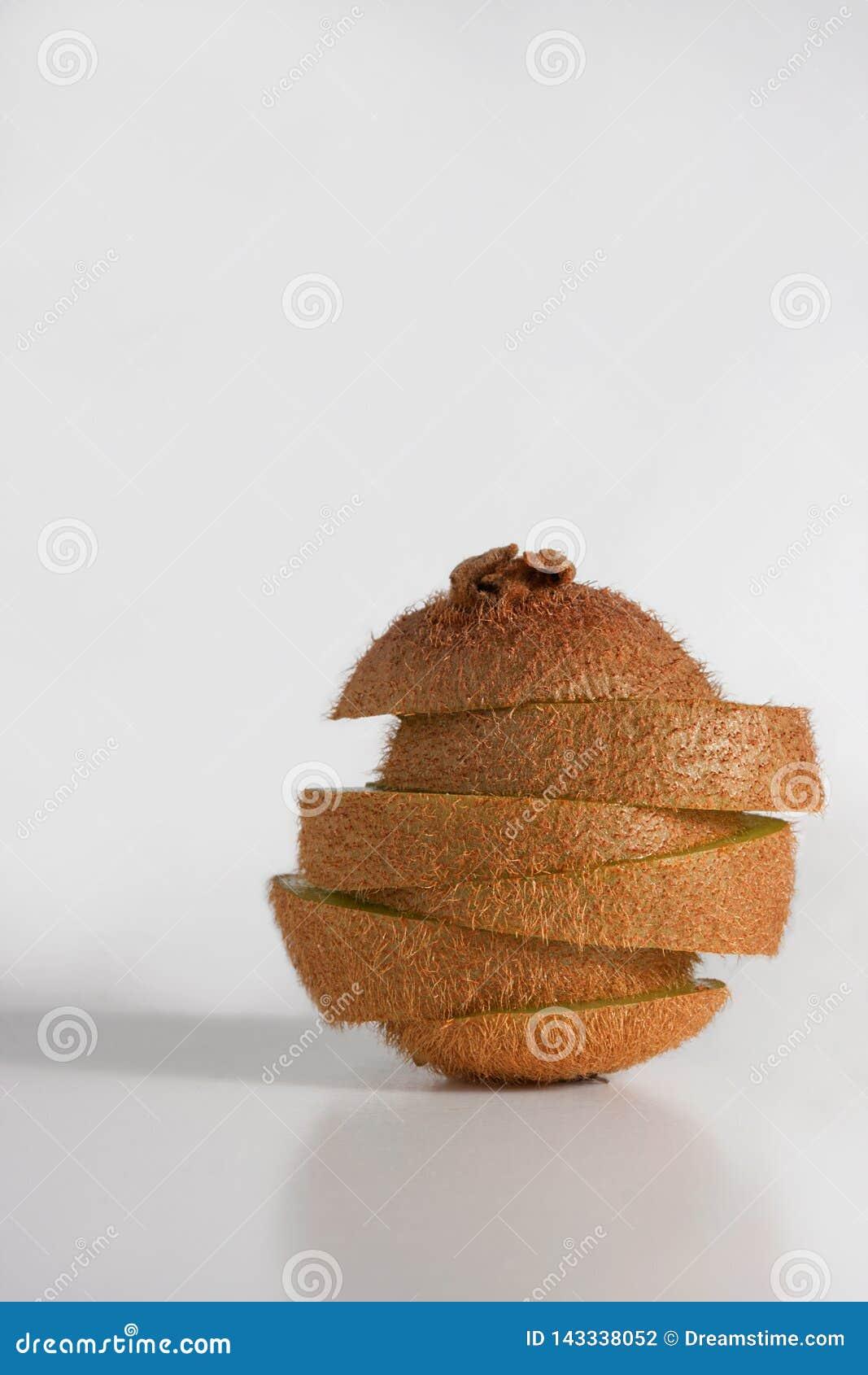 La fruta de kiwi se está deshaciendo