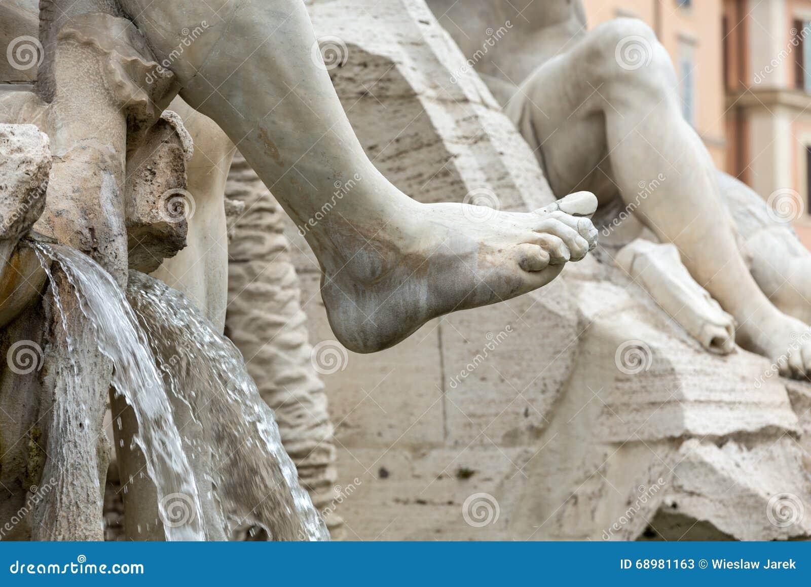La fuente de los cuatro ríos - plaza Navona, Roma,