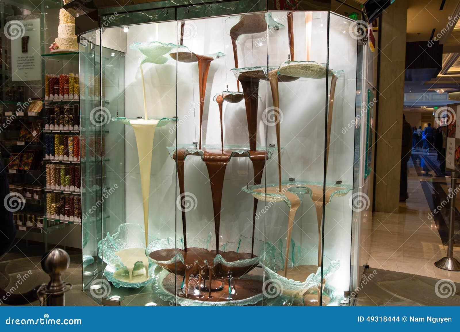 La fuente más grande Bellagio - Las Vegas Nevada del chocolate de los mundos