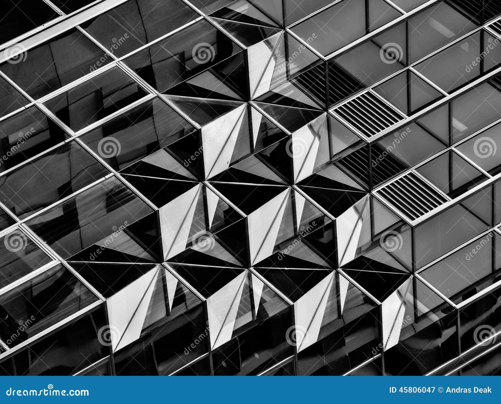 La g om trie dans l 39 architecture en noir et blanc d tail for Architecture noir et blanc