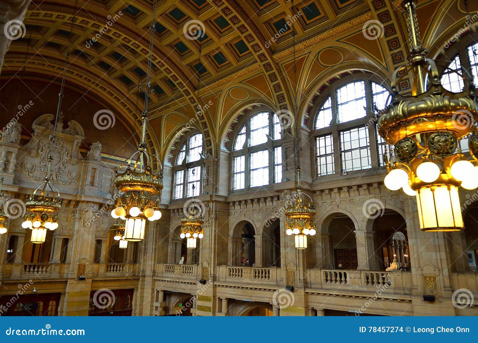 La galleria di arte di Kelvingrove ed il museo, Glasgow, Scozia