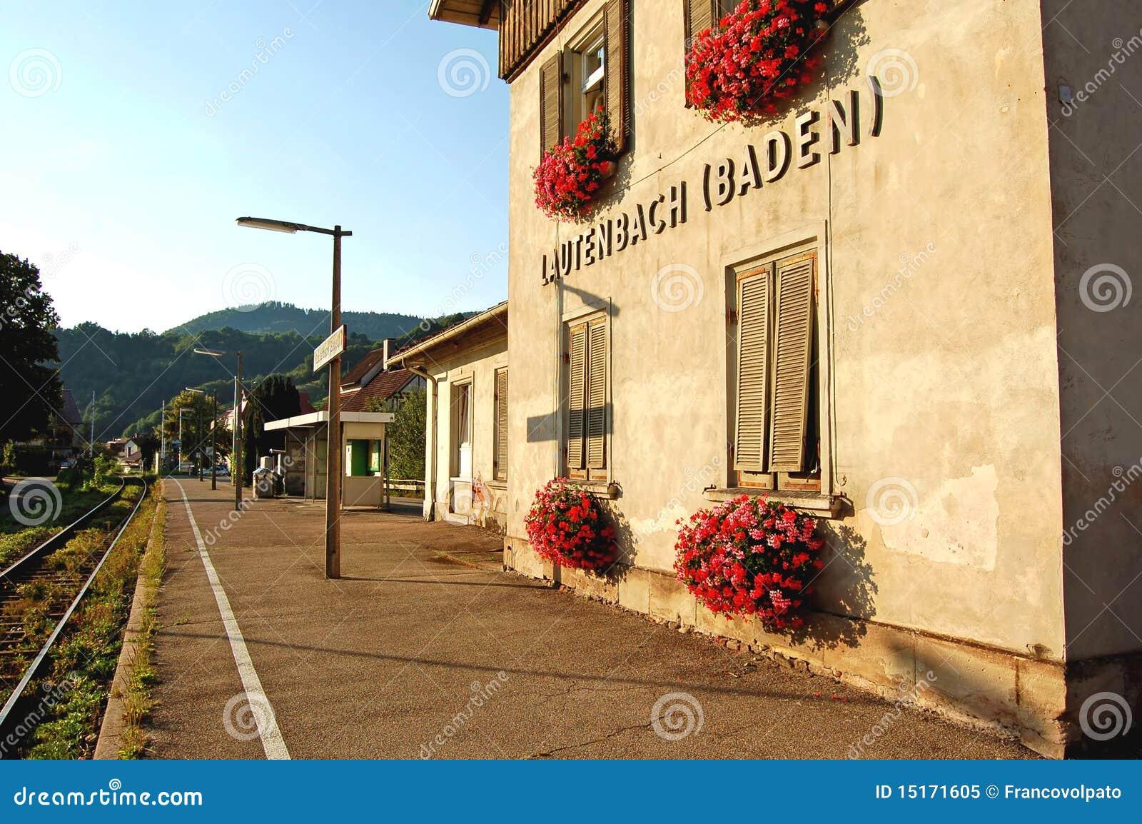 La gare lautenbach baden allemagne image stock for Baden baden allemagne maison close