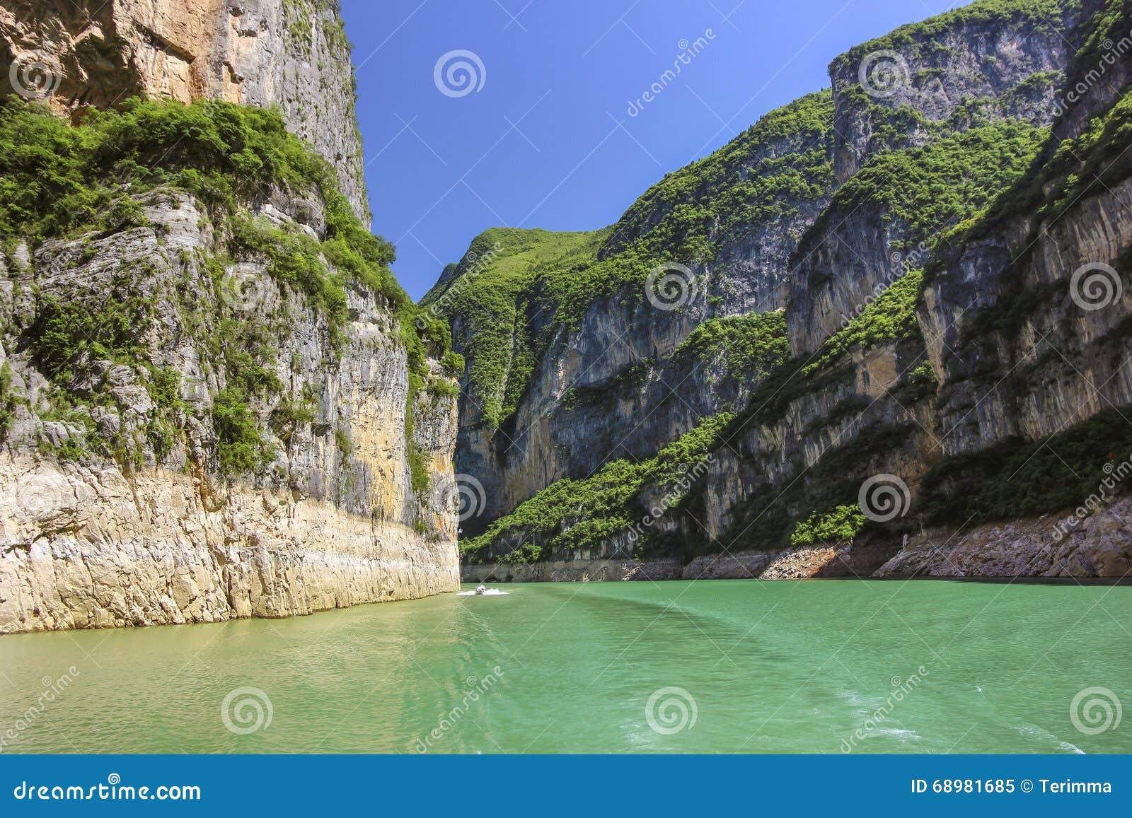 La garganta en el río Yangzi