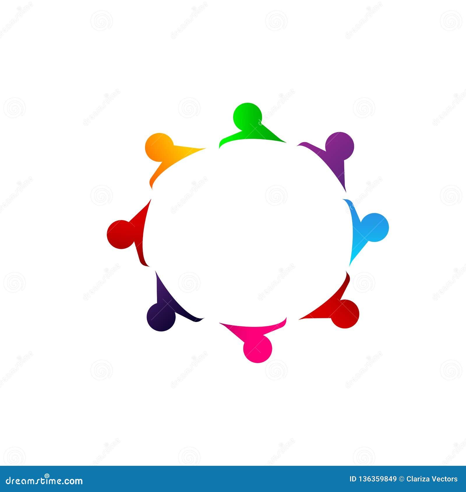 La gente combina la unión del trabajo junta que la gente colorida trabaja junta
