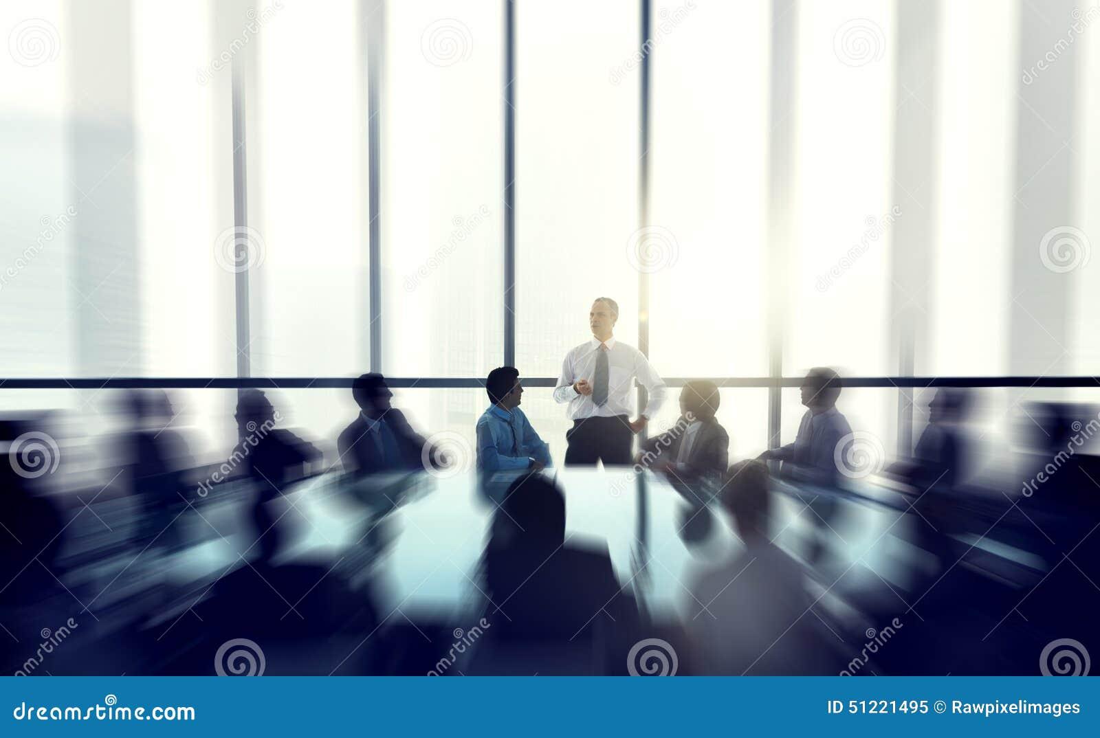 La gente de Of The Business del líder que da una conferencia del discurso