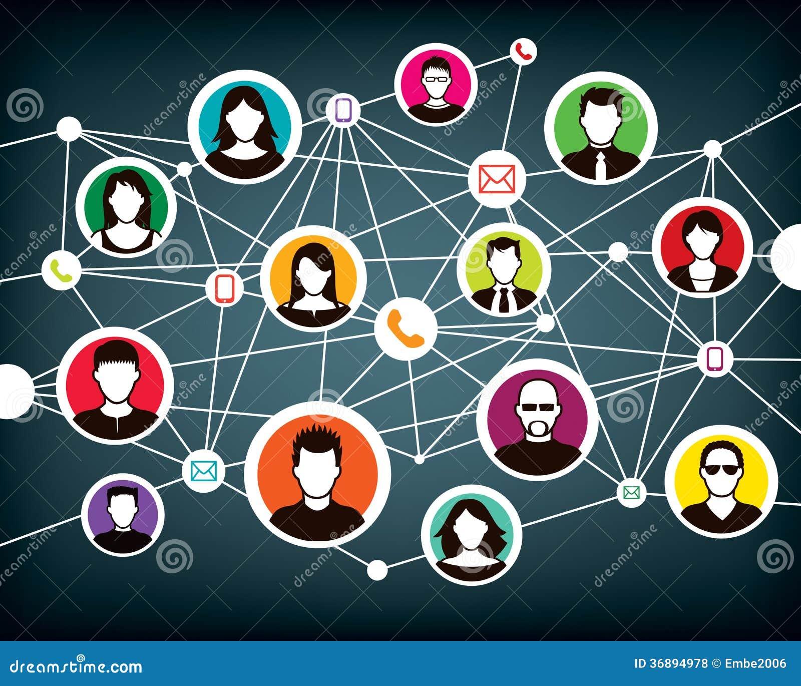 Download La Gente Della Rete Di Comunicazione Illustrazione Vettoriale - Illustrazione di idea, icona: 36894978