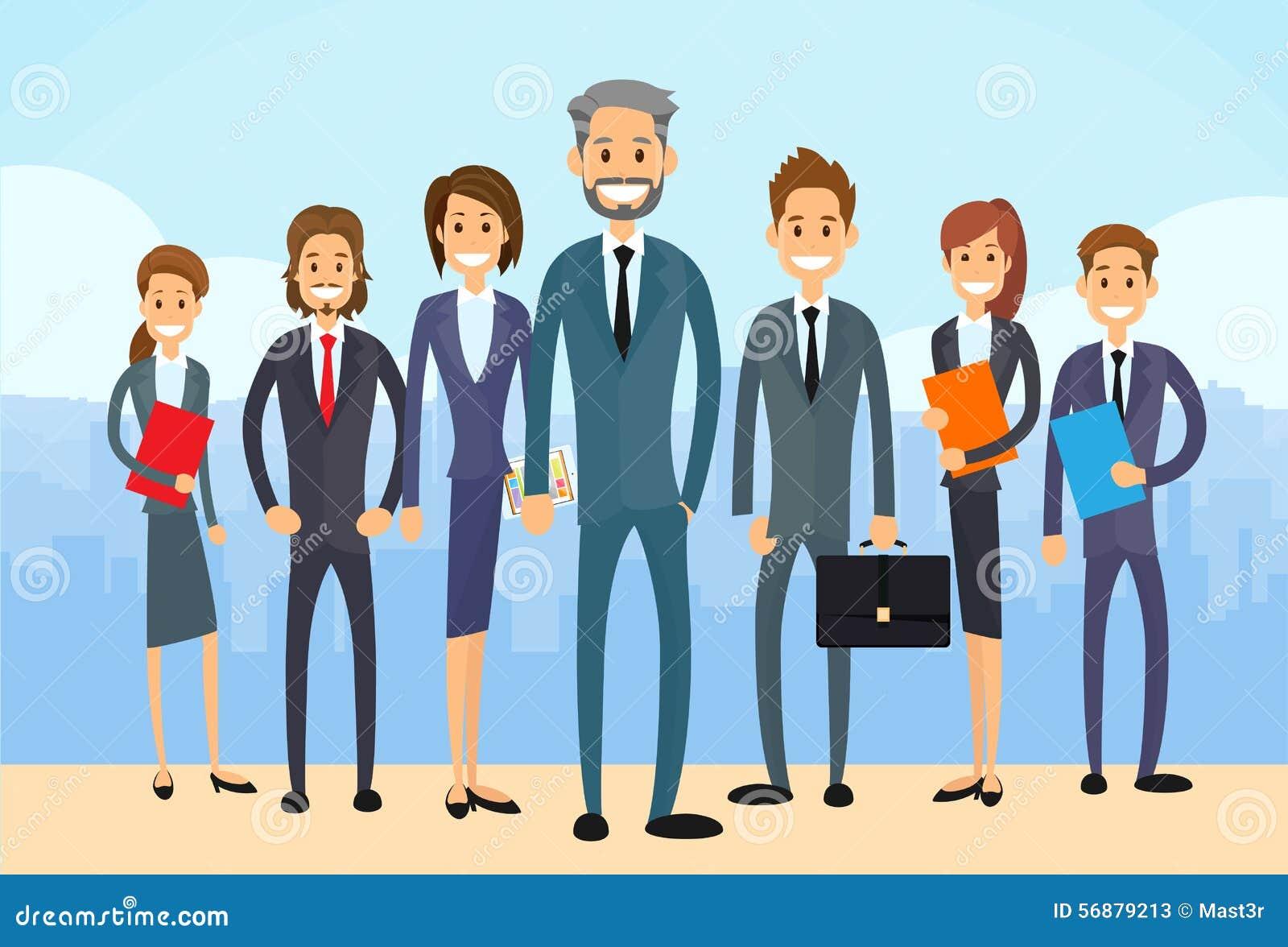La gente di affari raggruppa diverso Team Vector