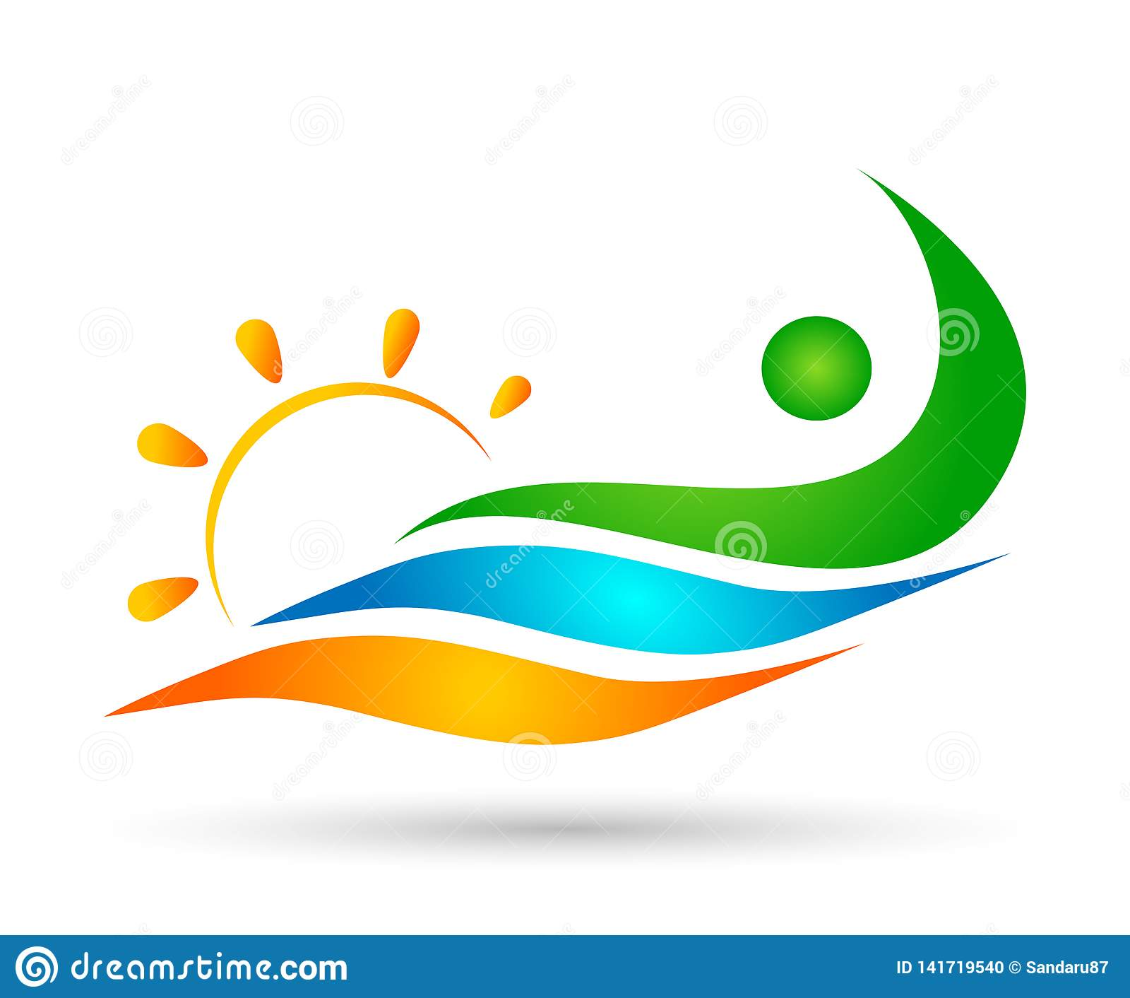 La gente espone al sole le progettazioni di nuoto di conquista di vettore dell icona di benessere della celebrazione del lavoro d