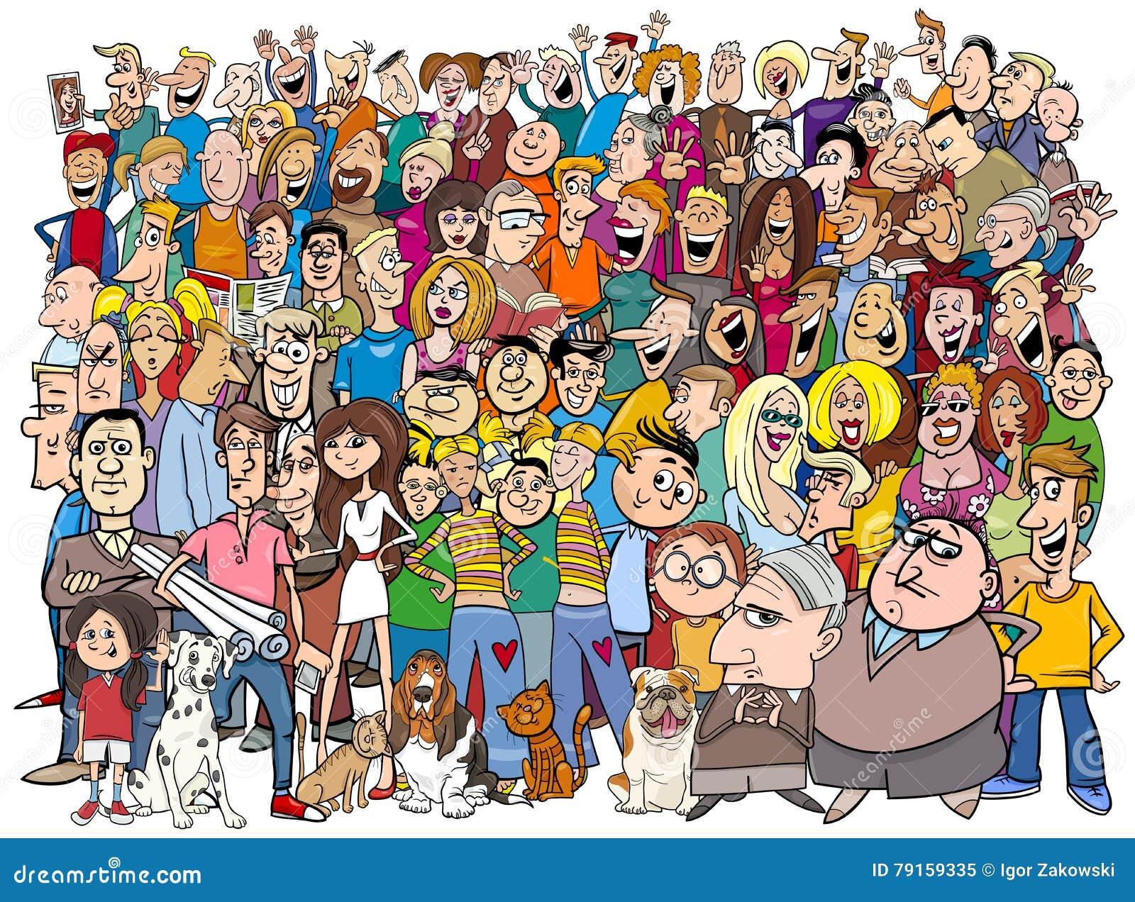 La gente nel fumetto della folla