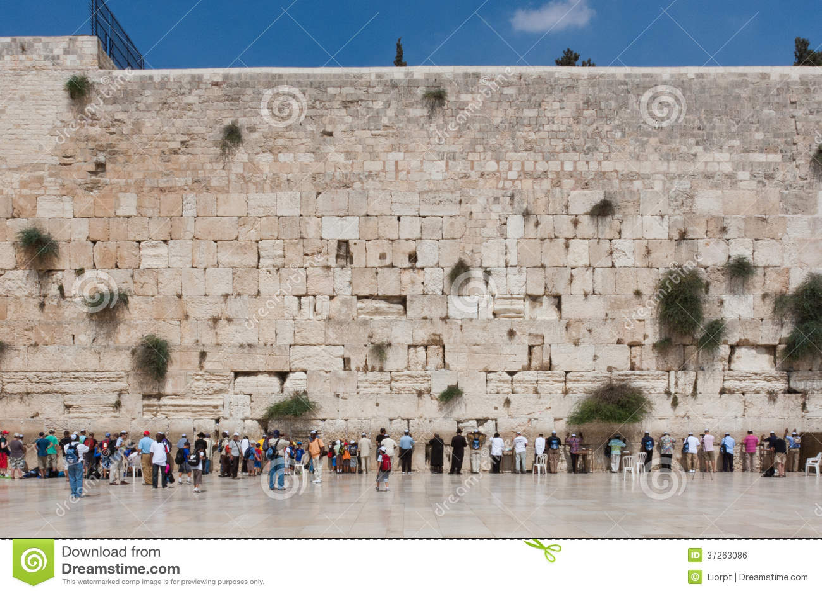 La gente prega alla parete occidentale, Gerusalemme