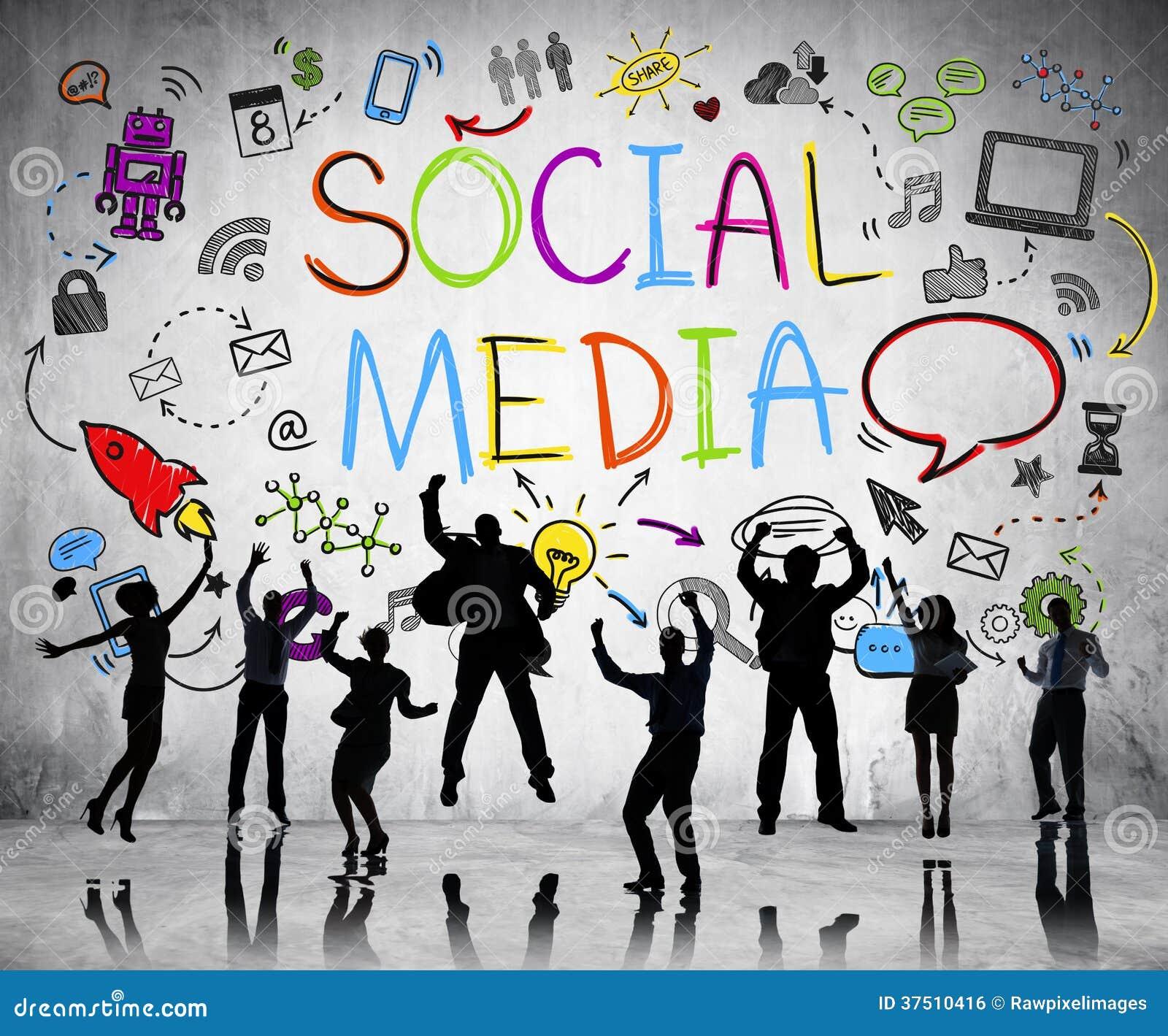 La gente profila sul fondo sociale di media