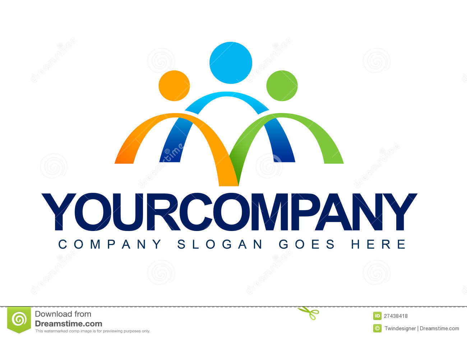 La gente unisce il logo di concetto