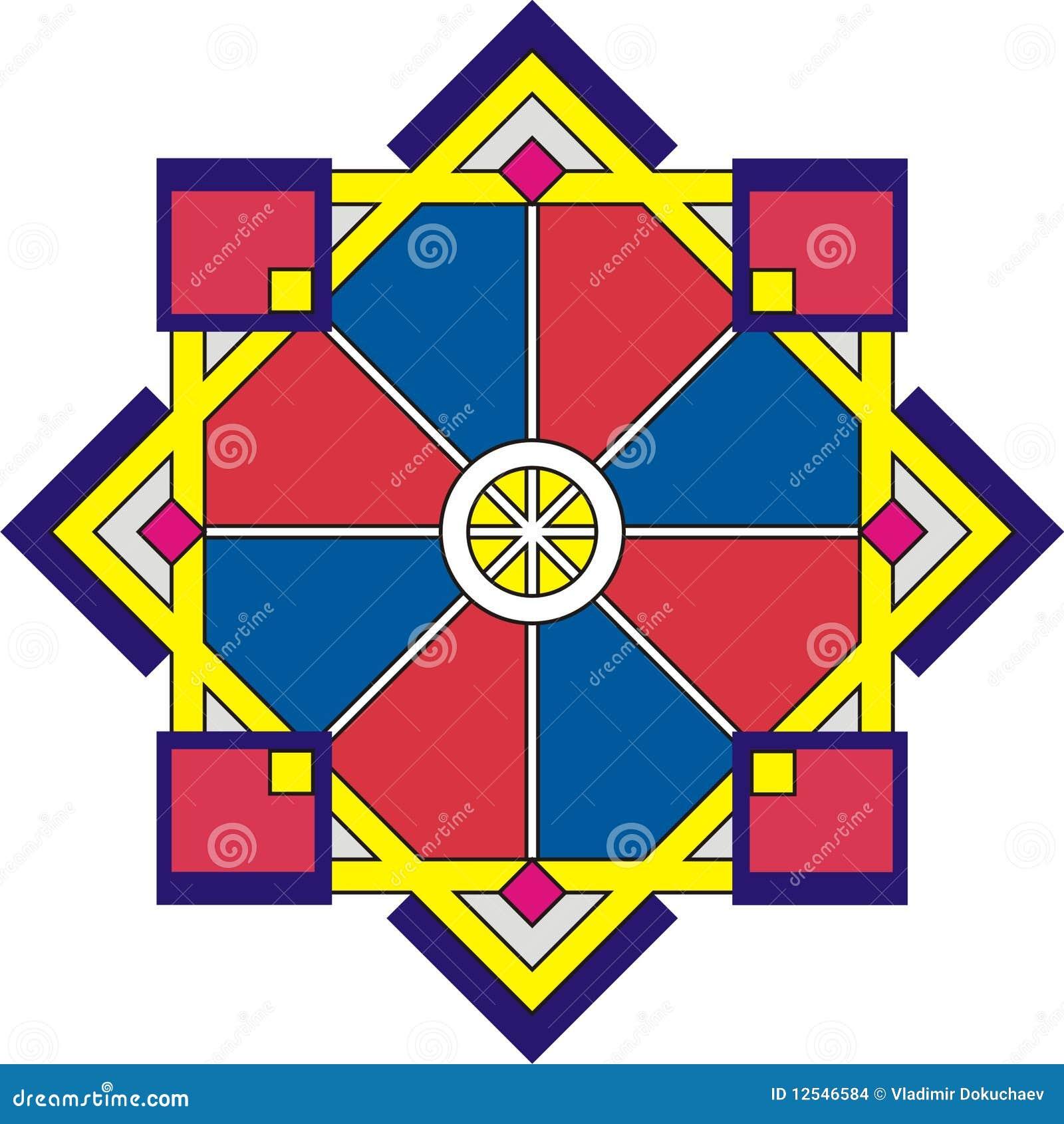 La geometria - rosetta ornamentale
