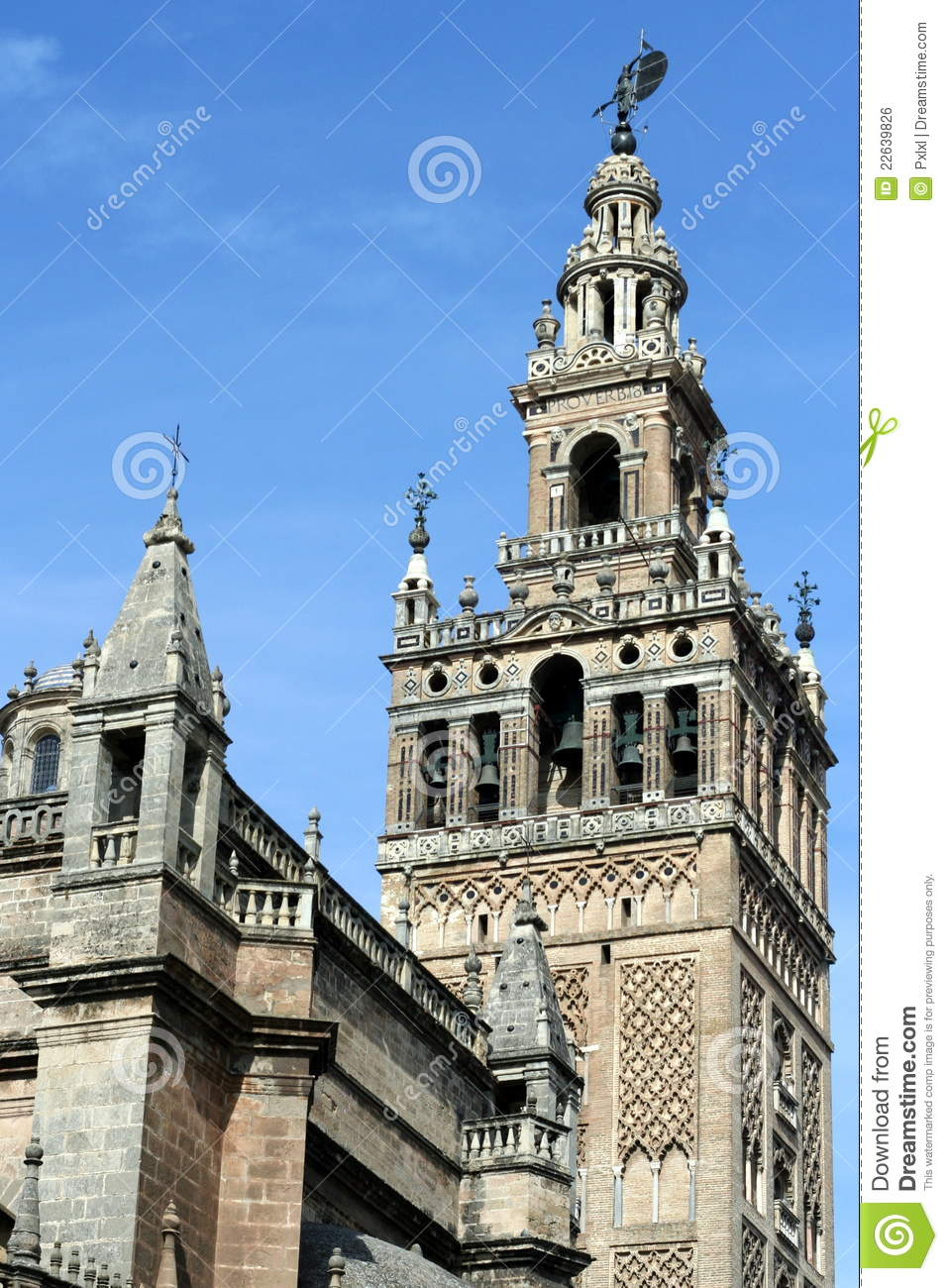 La Giralda Cathedral Belltower In Seville Royalty Free ...