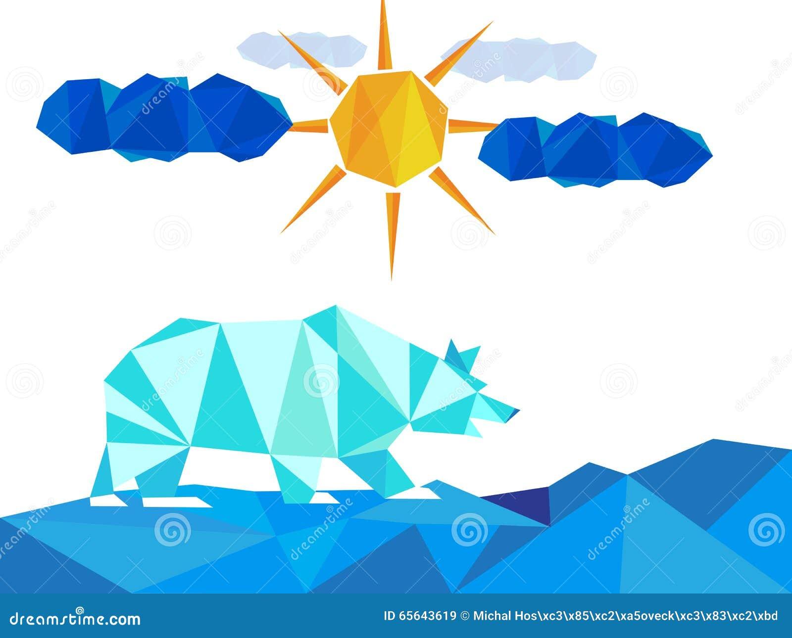 La glace blanche concernent le paysage avec des icebergs l hiver avec le soleil et des nuages