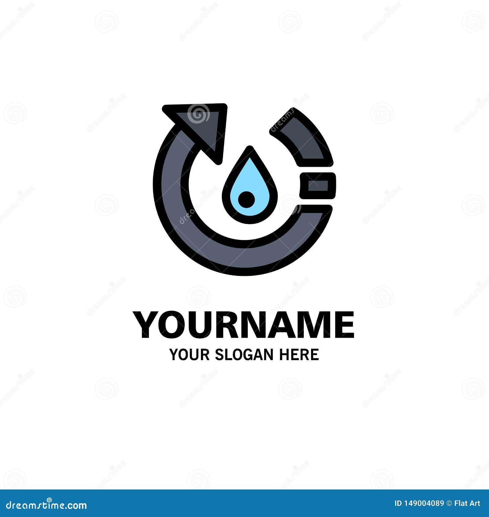 La goccia, l ecologia, ambiente, natura, ricicla l affare Logo Template colore piano
