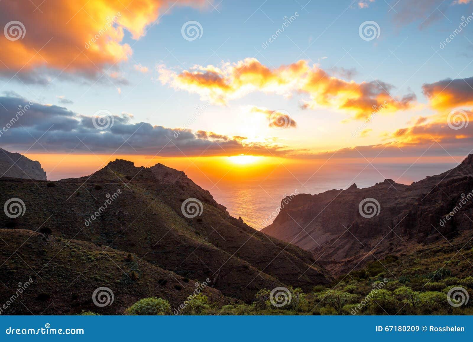 La Gomera island lanscape view