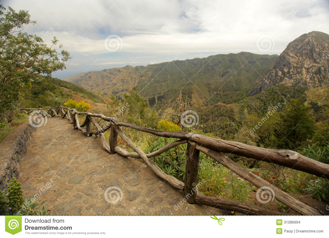 Homes Plans La Gomera Landscape Stock Images Image 31086994