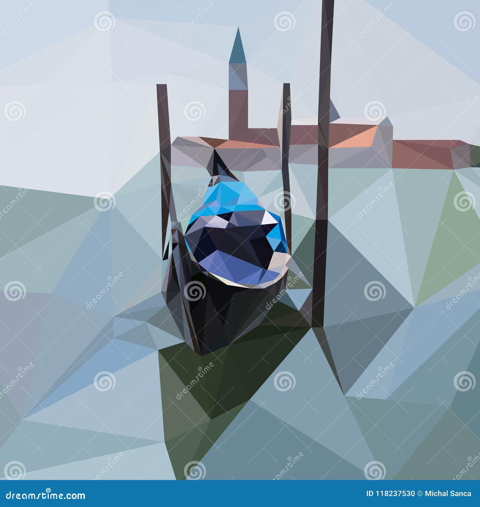 La gondola galleggia sull acqua a Venezia, Italia