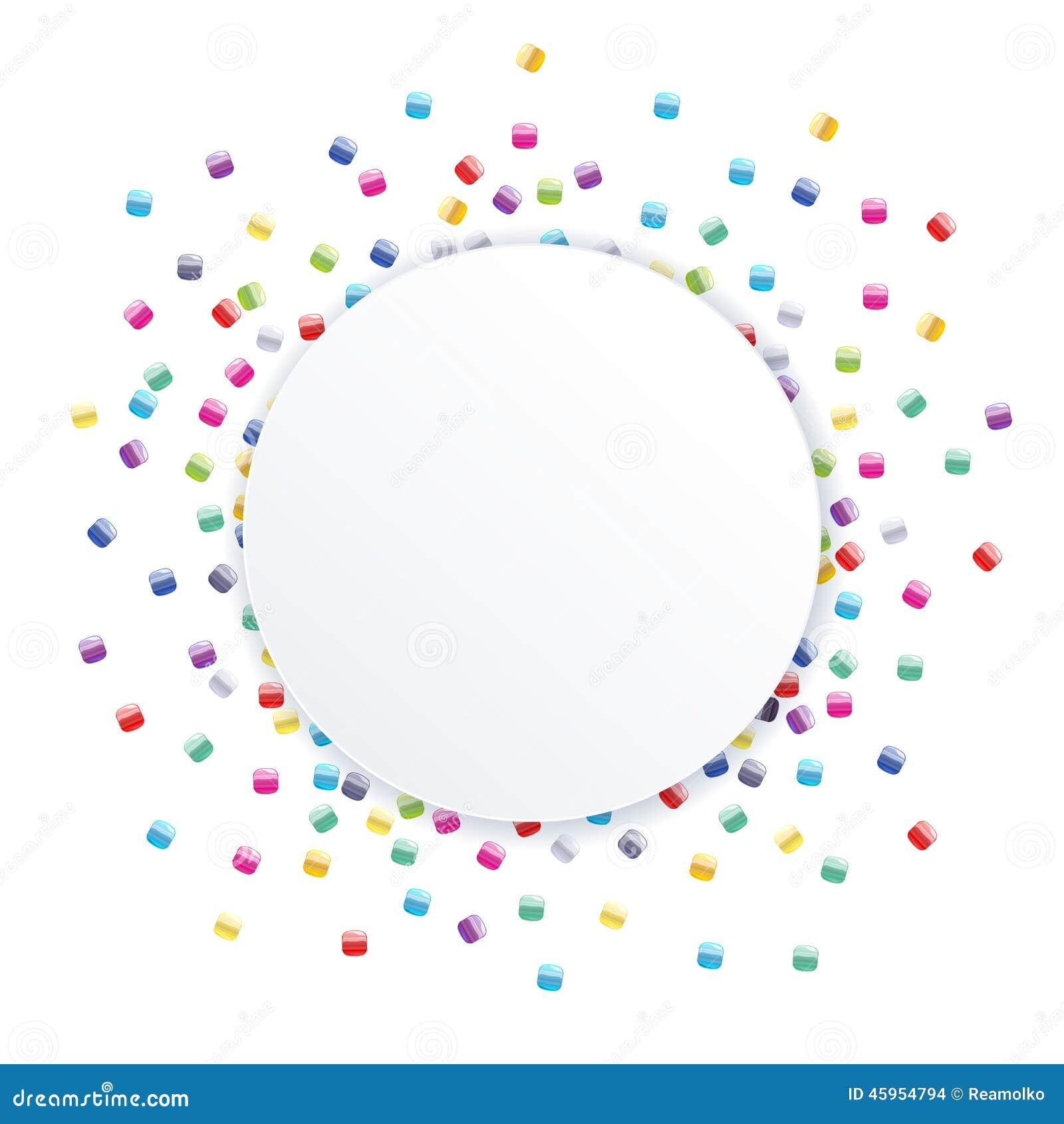 La graine dispersée perle le backgound coloré