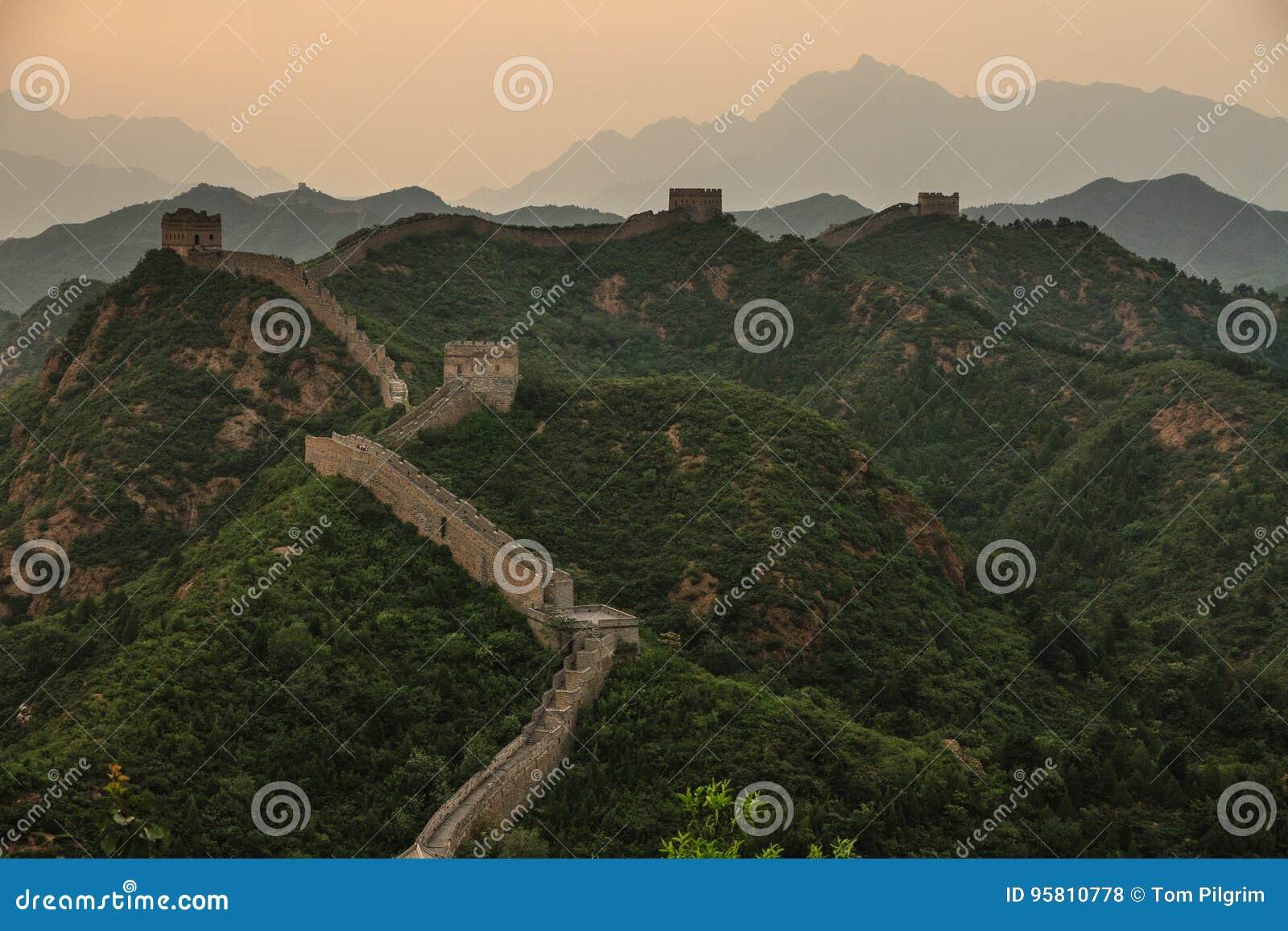 La Gran Muralla de China en Jinshanling