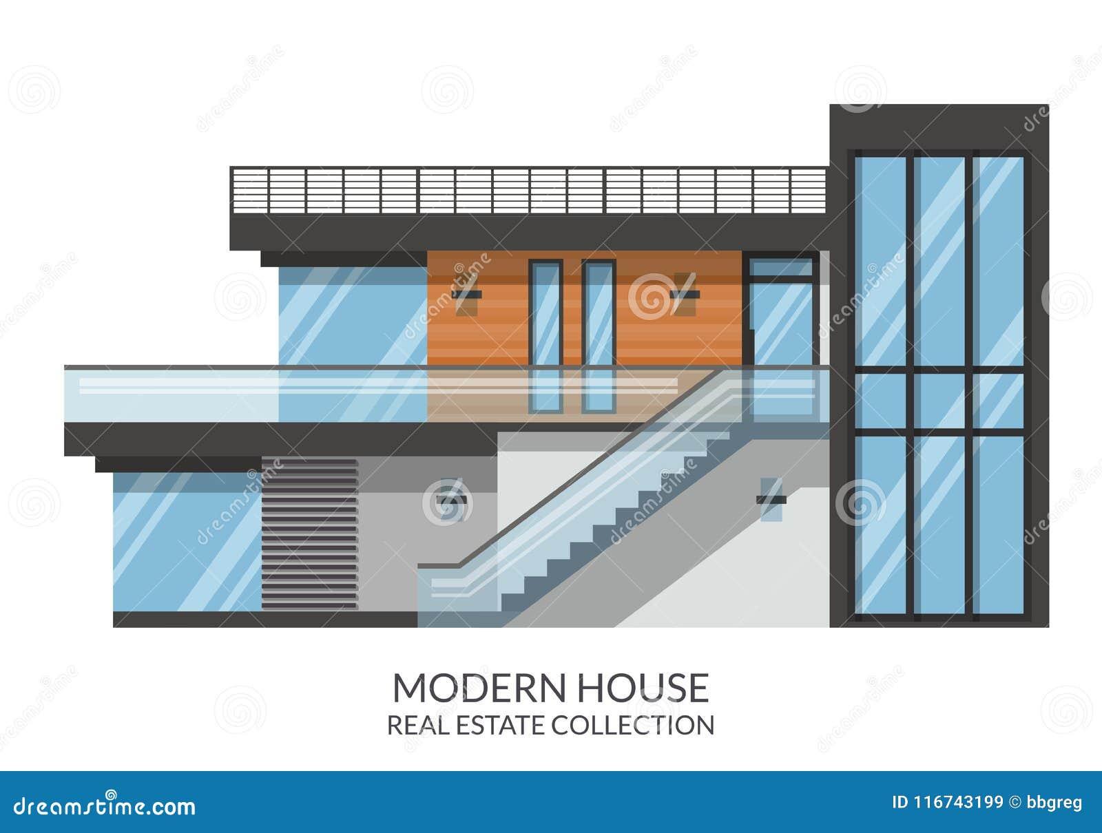 La Grande Casa Di 2 Piani Moderna Della Famiglia Bene Immobile