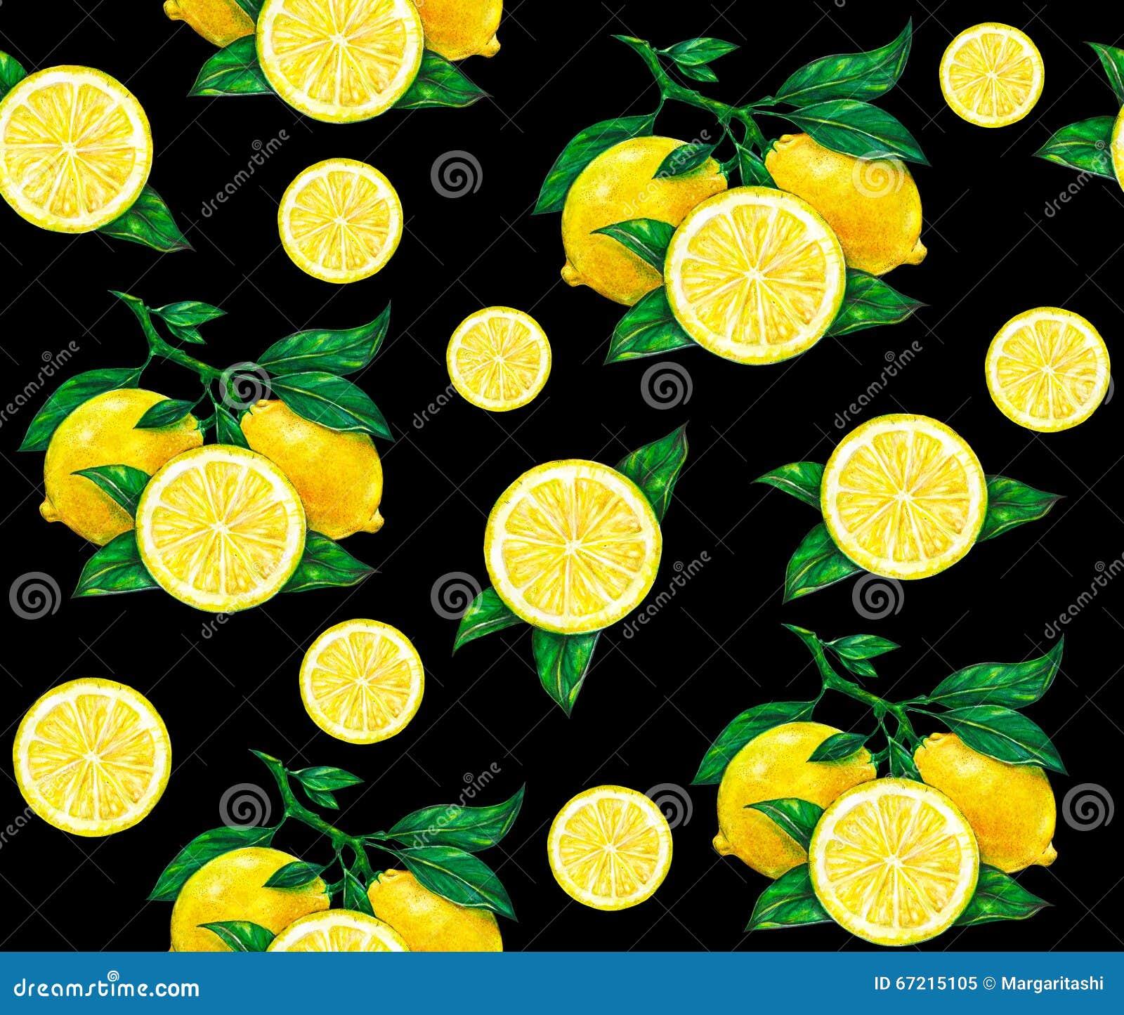 La grande illustration du beau citron jaune porte des - Dessin fond noir ...