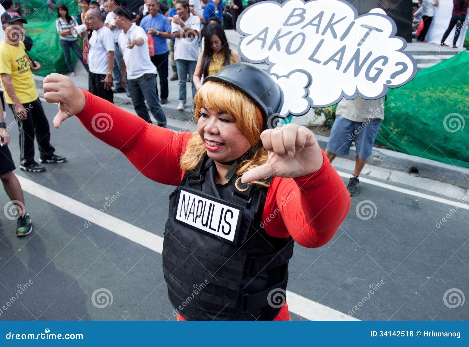 La greffe et la corruption protestent à Manille, Philippines