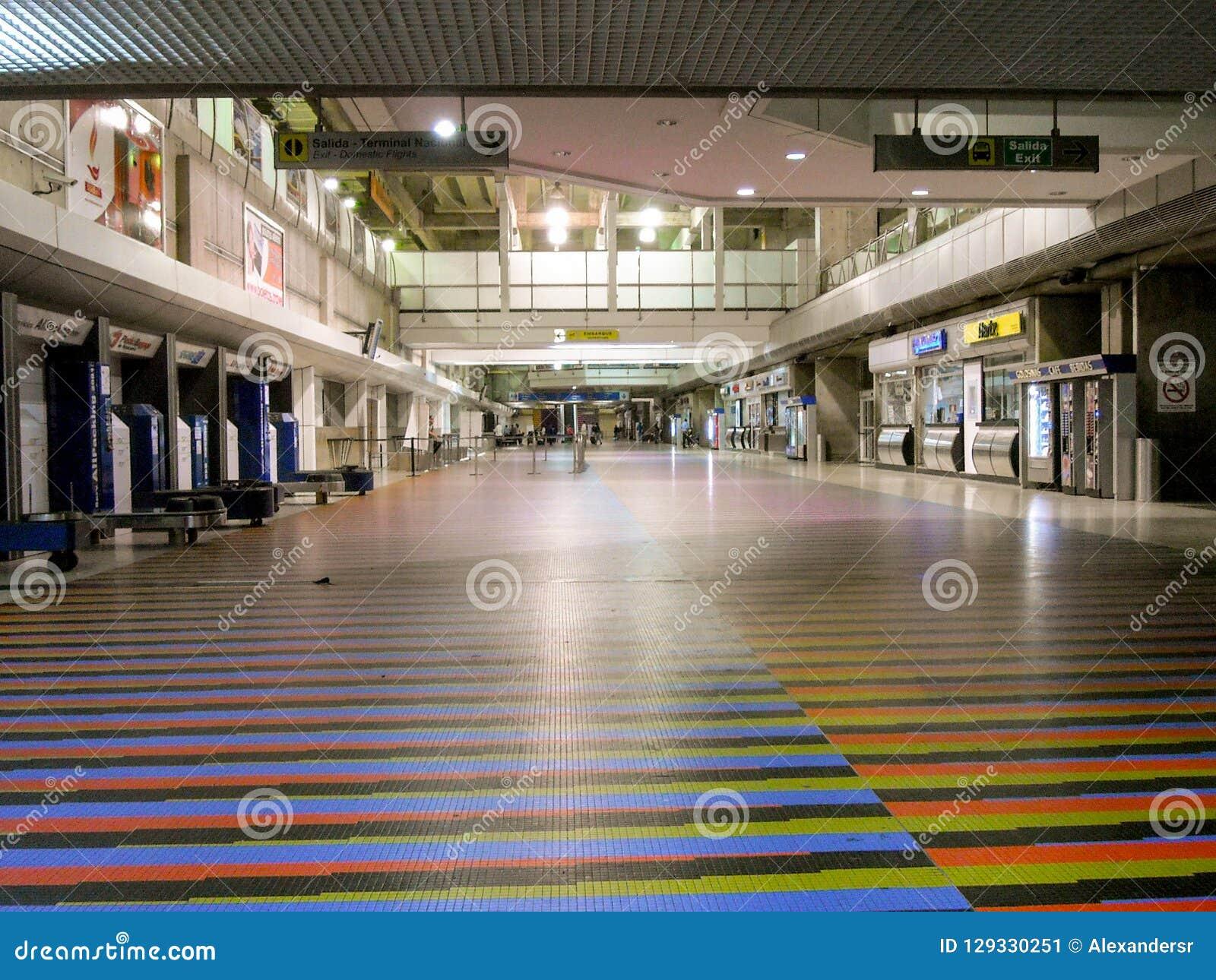 La Guaira Vargas State/Venezuela 08/11/2018 International Airport Simon Bolivar Maiquetia Editorial
