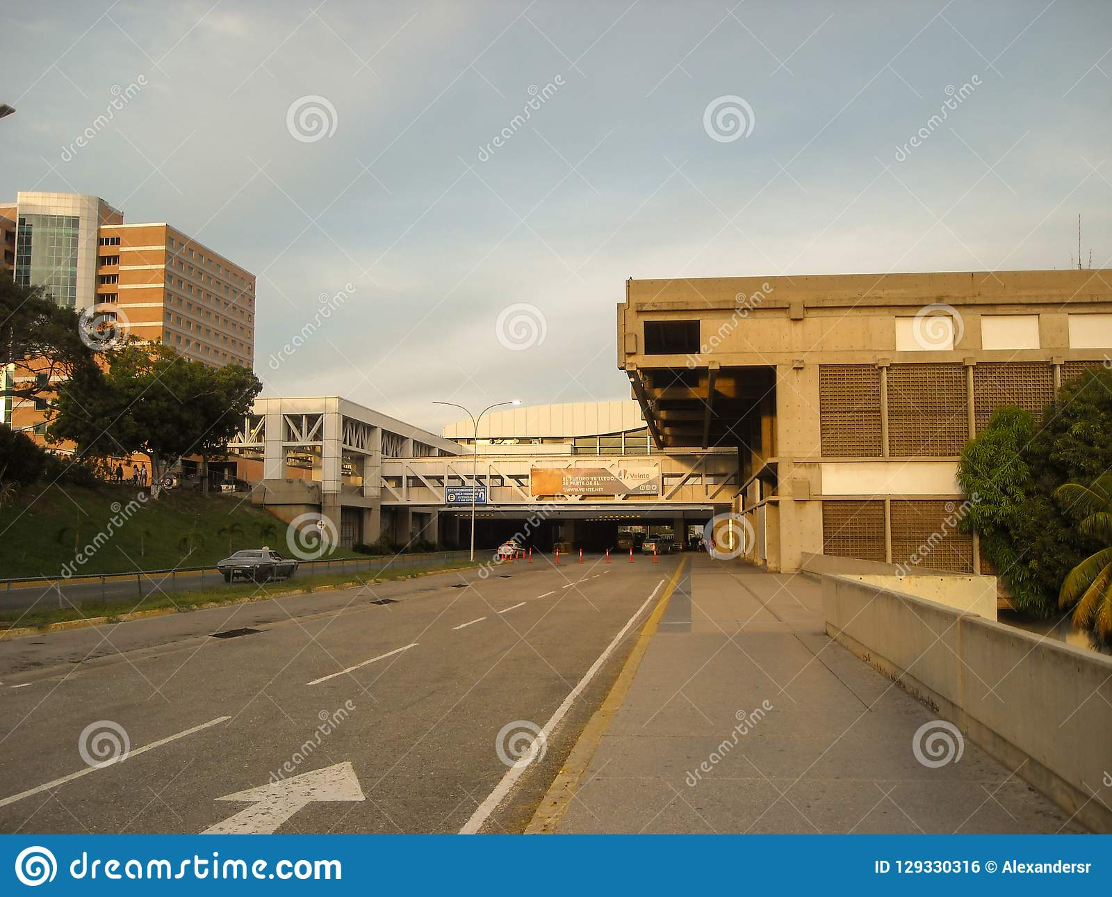 La Guaira Vargas Zustand/Venezuela 08/11/2018 internationaler Flughafen Simon Bolivar Maiquetia Editorial