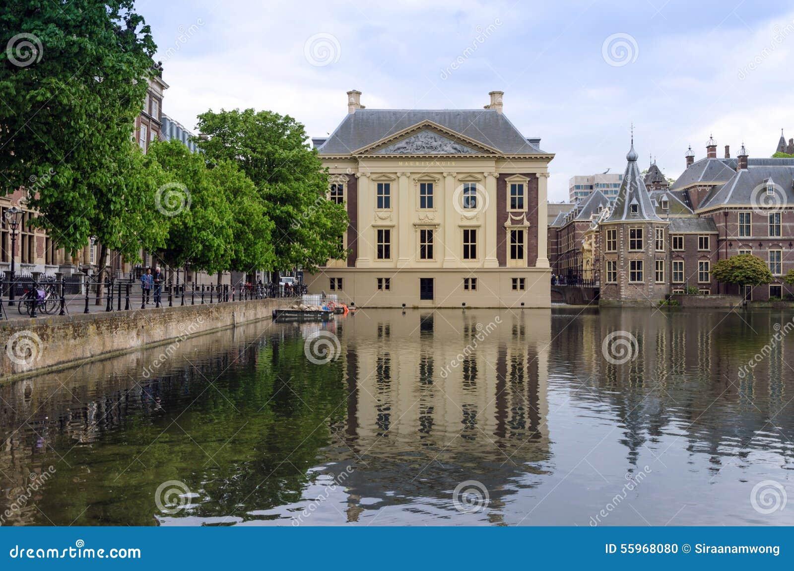 La Haya, Países Bajos - 8 de mayo de 2015: Museo de Mauritshuis de la visita de la gente en La Haya, Países Bajos