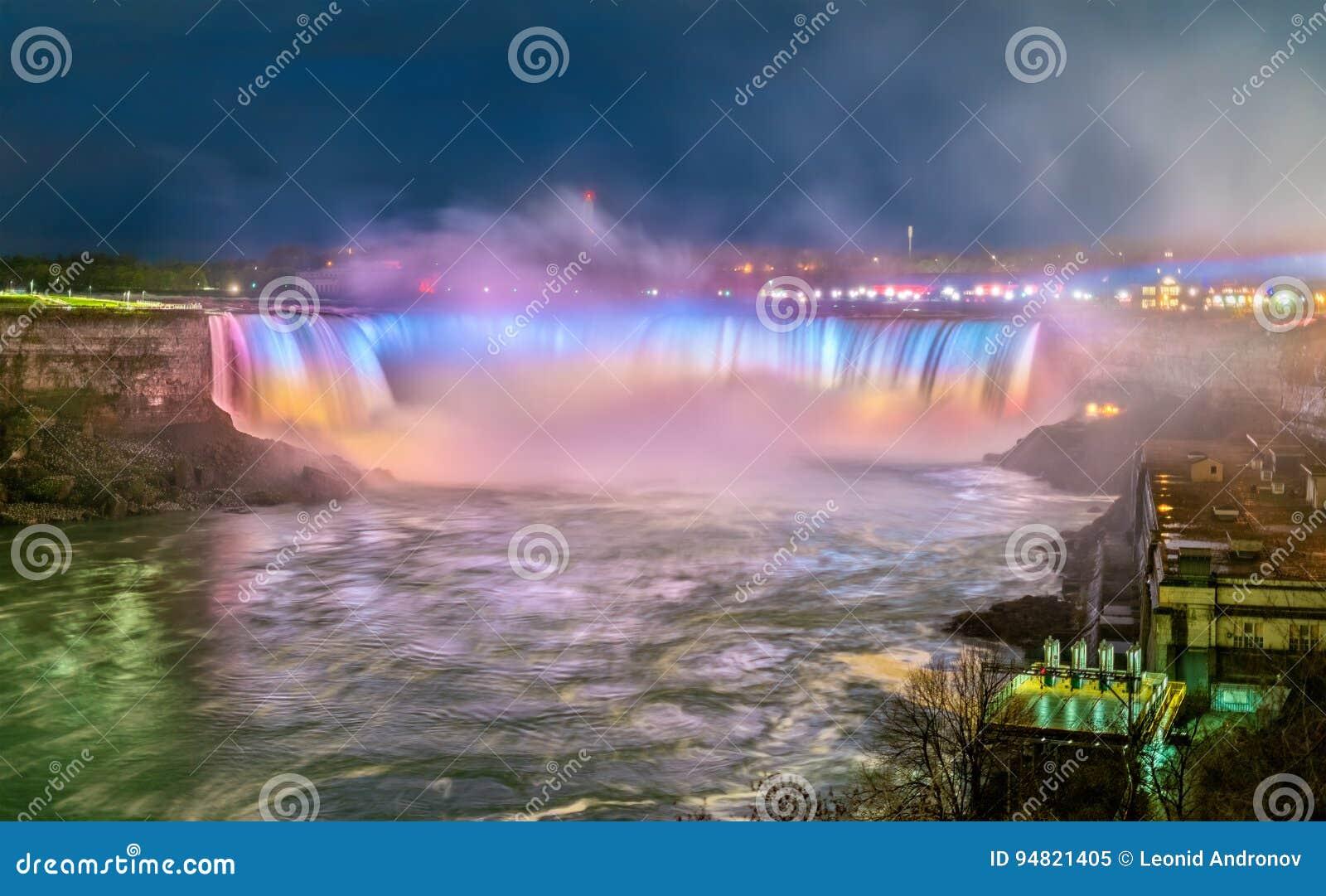 La herradura cae, también conocido como caídas del canadiense en Niagara Falls